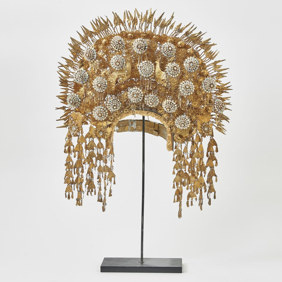 Sumatran Headdress With Peacocks