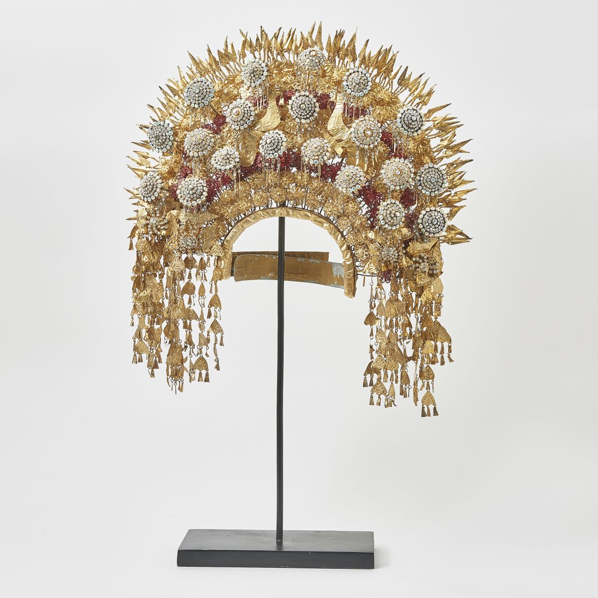 Sumatran Headdress With Metal Flowers