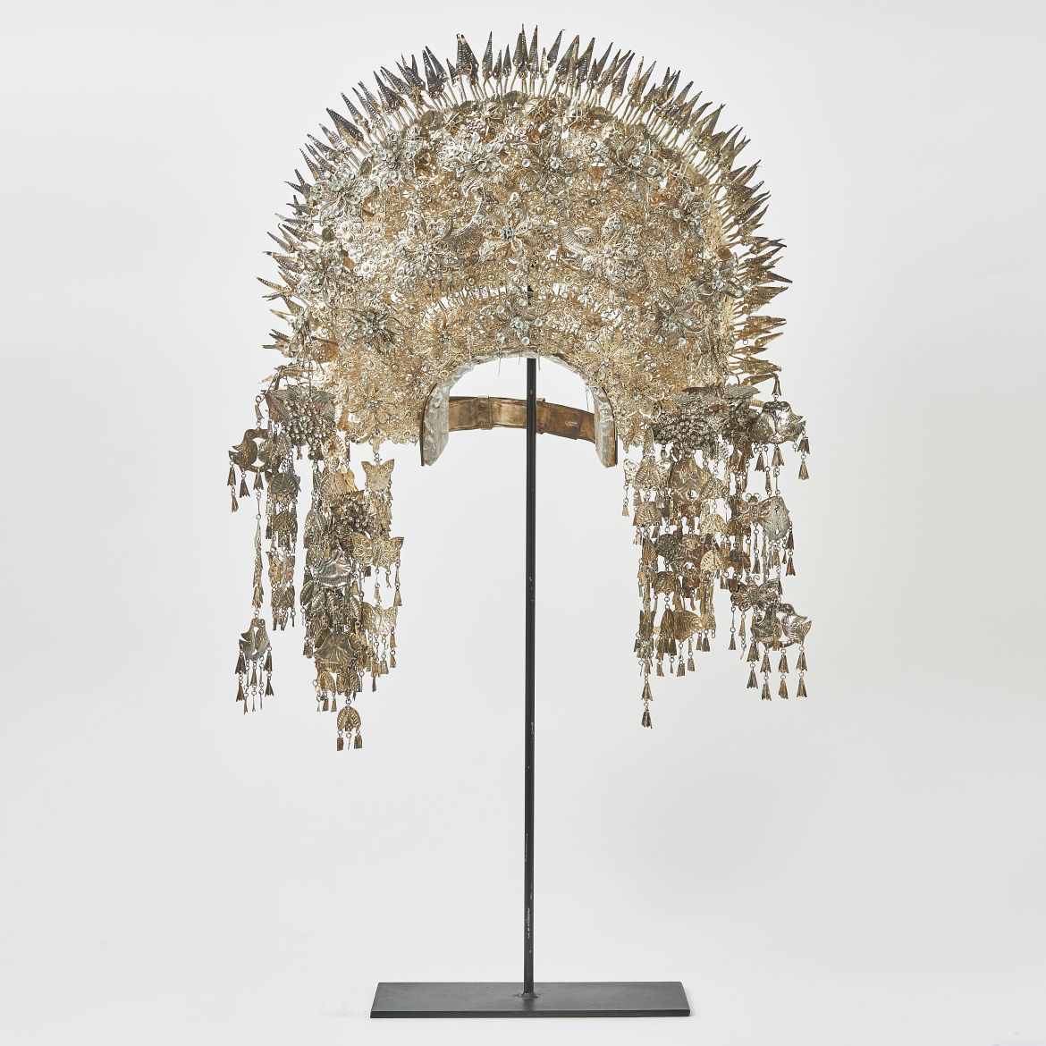Sumatran Silvered Metal Headdress