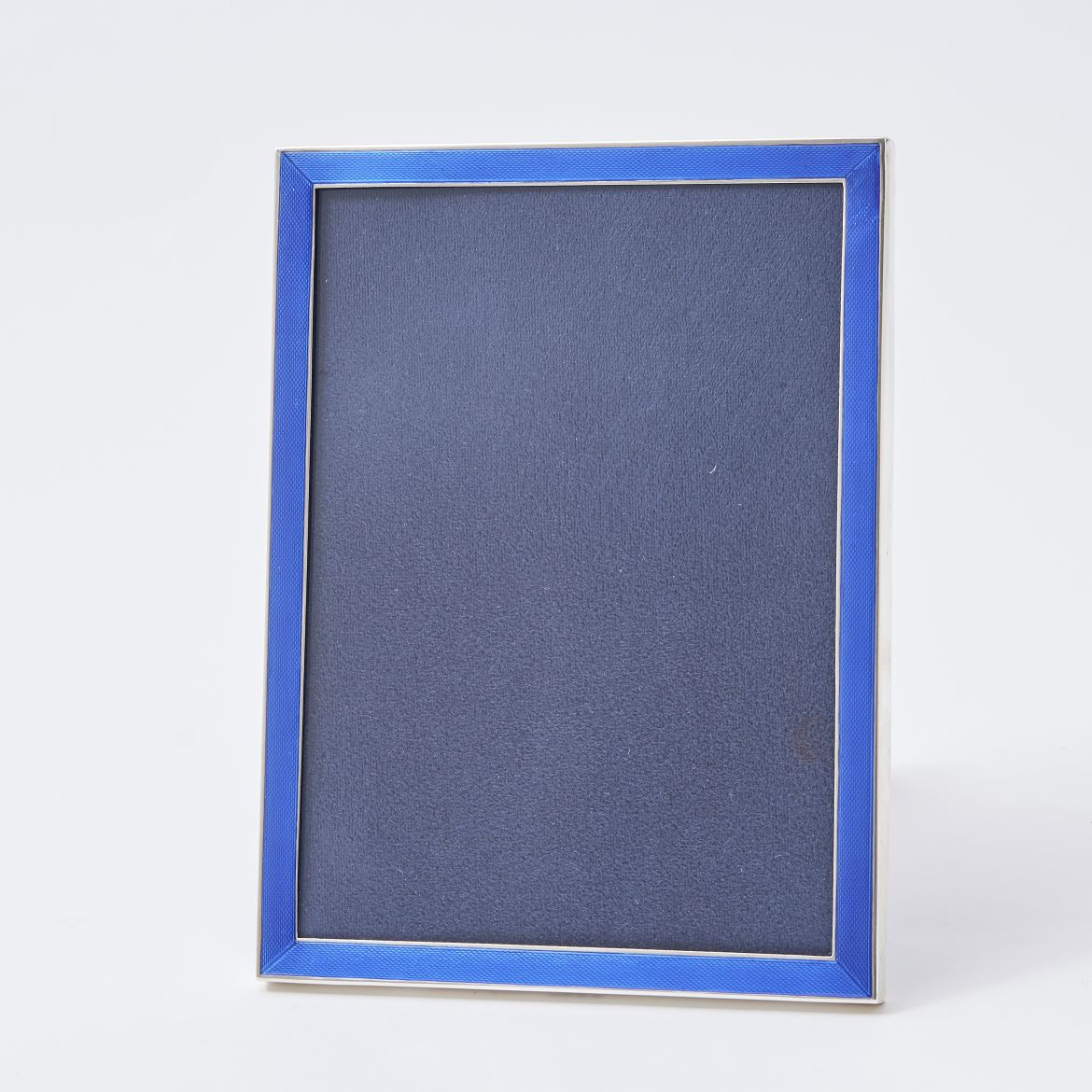 Blue Enamel & Silver Photo Frame