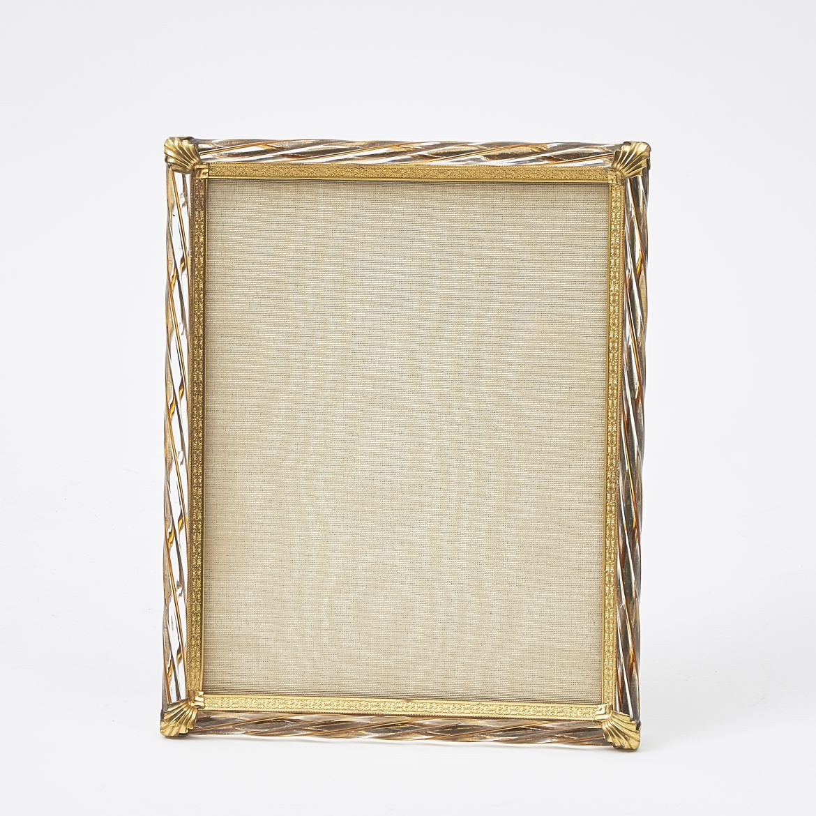 Guinevere Antiques | Gilt & Striped Twisted Lucite Frame