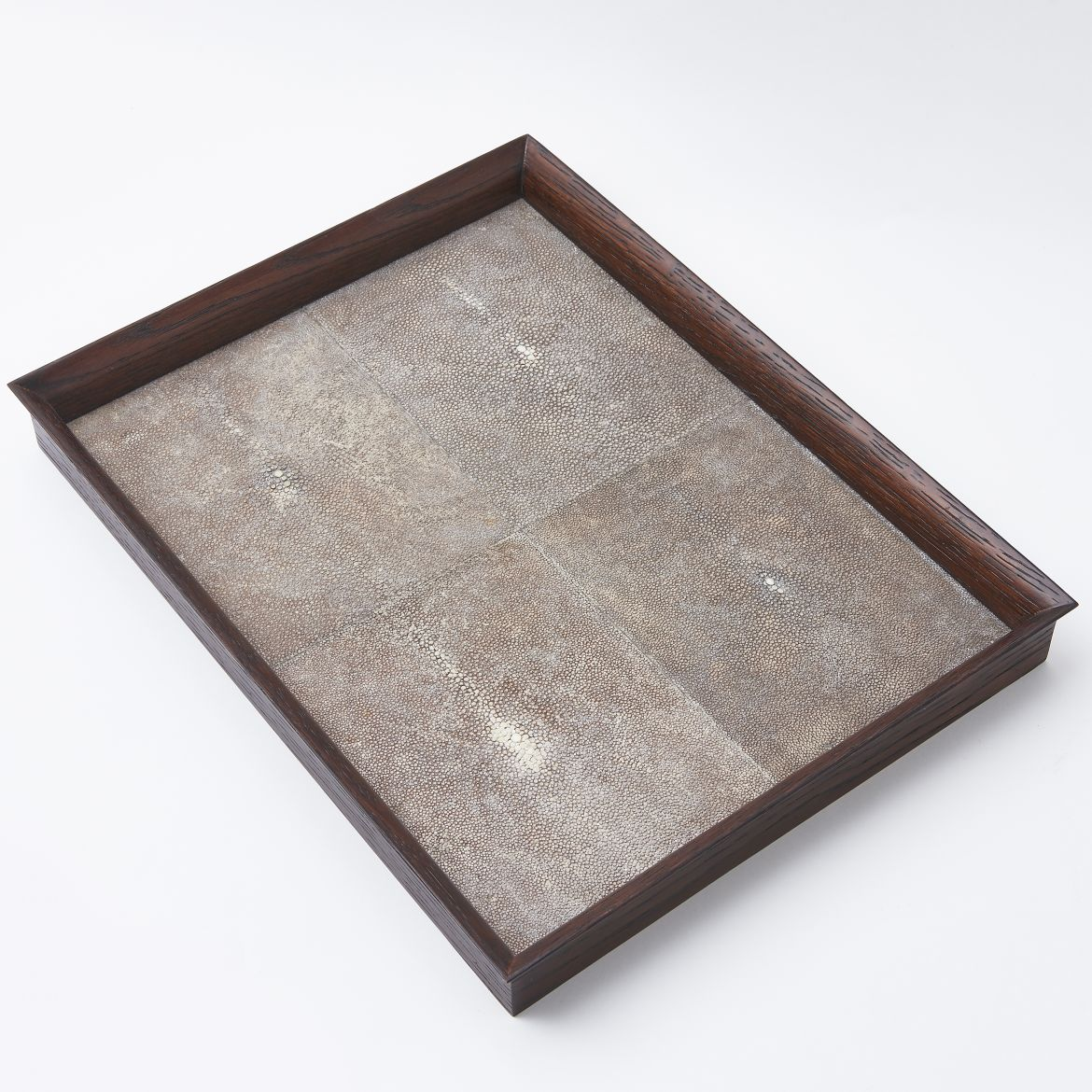 Tray With Shagreen Panels