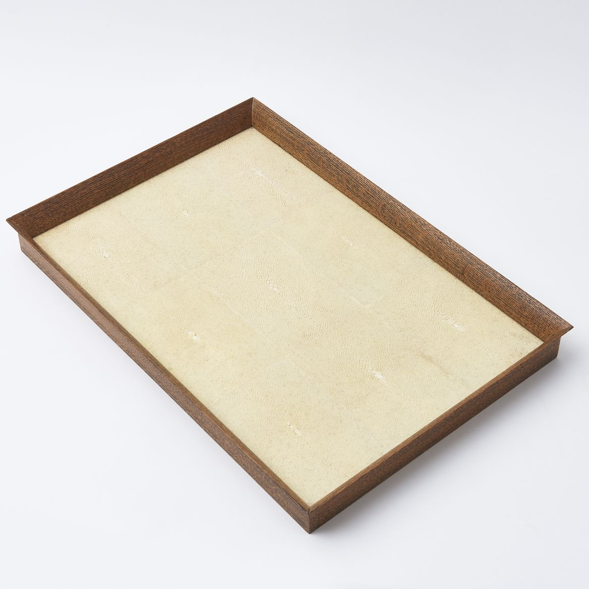 Tray With Cream Shagreen Panels