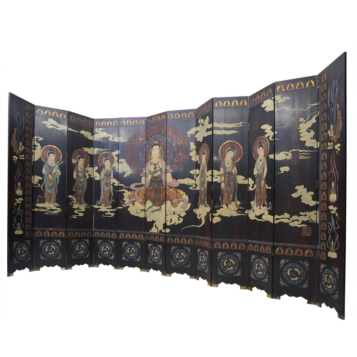 Chinese Coromandel Lacquer Screen