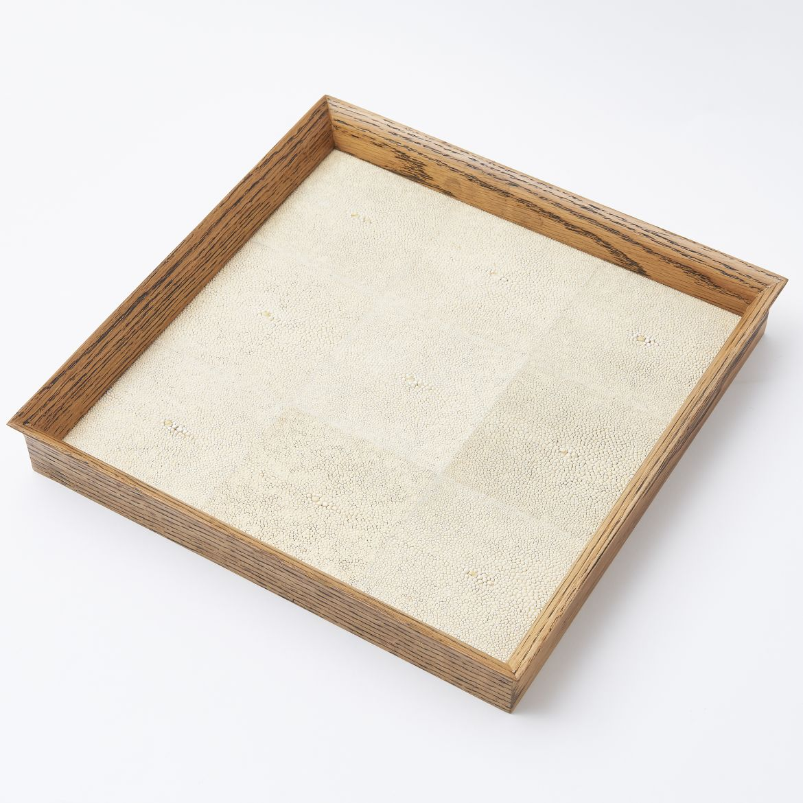 Tray With Cream Shagreen