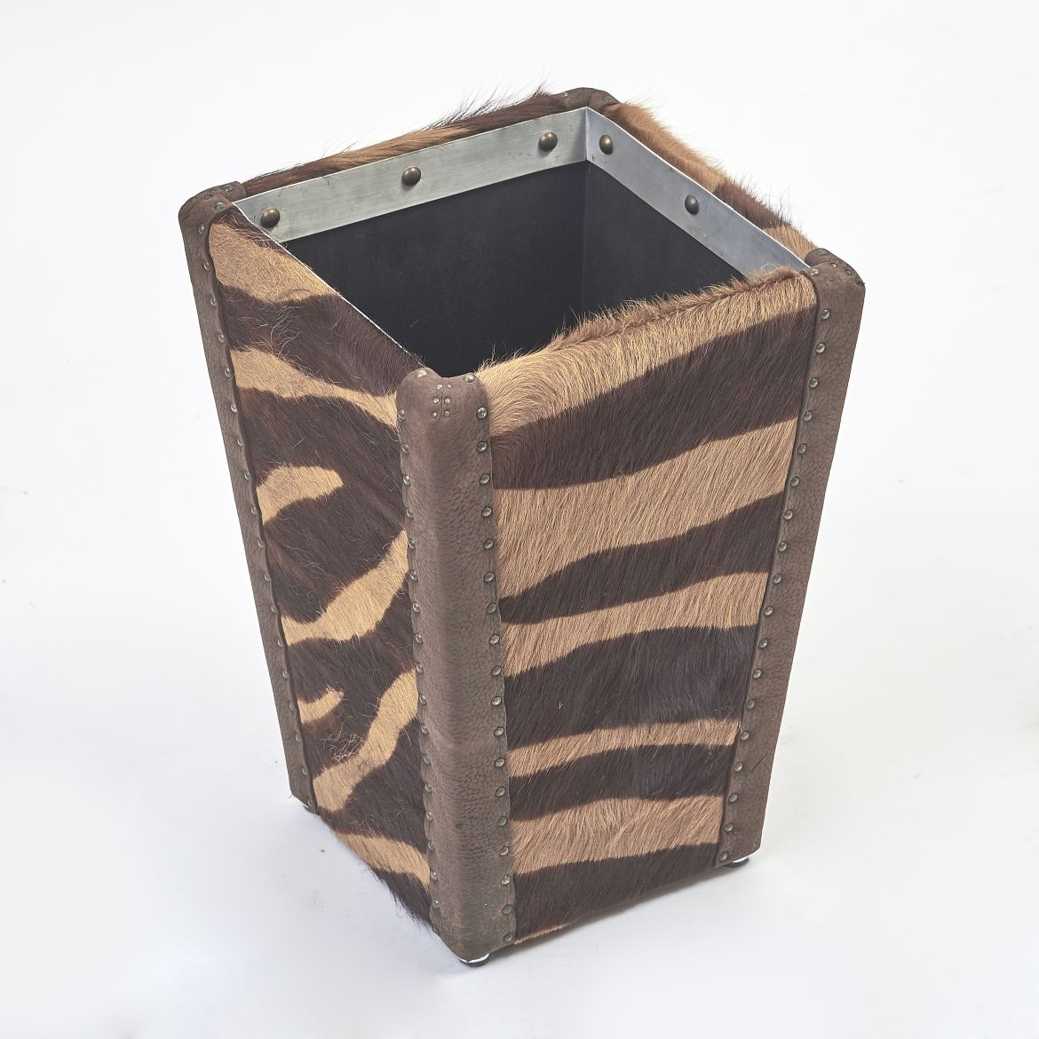 Cow Hide Waste Paper Basket