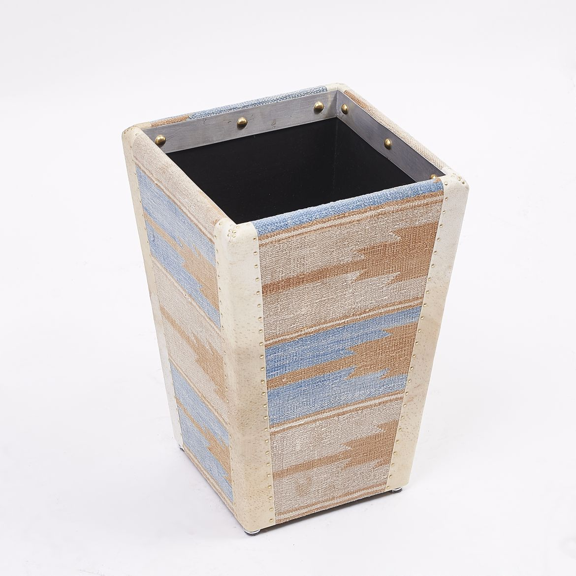Dhurrie Covered Waste Paper Basket