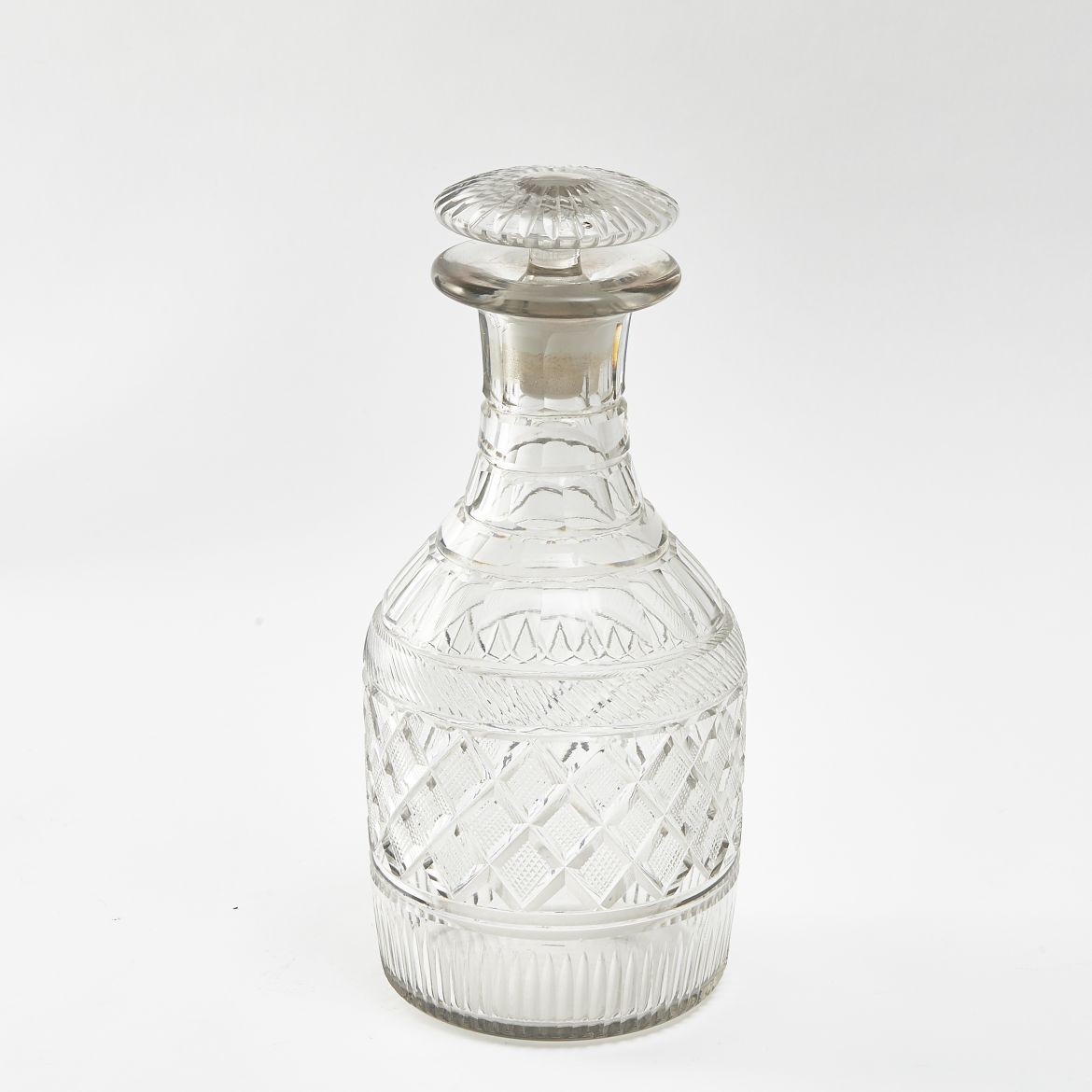 Cut Crystal Mallet Decanter