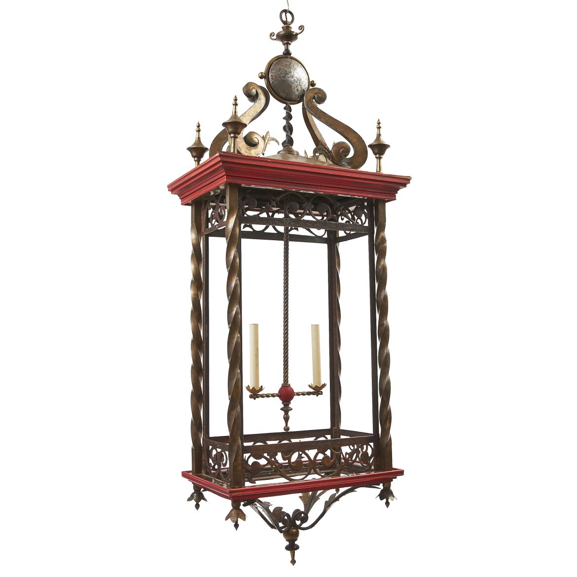 Very Large Belgium Brass Lantern
