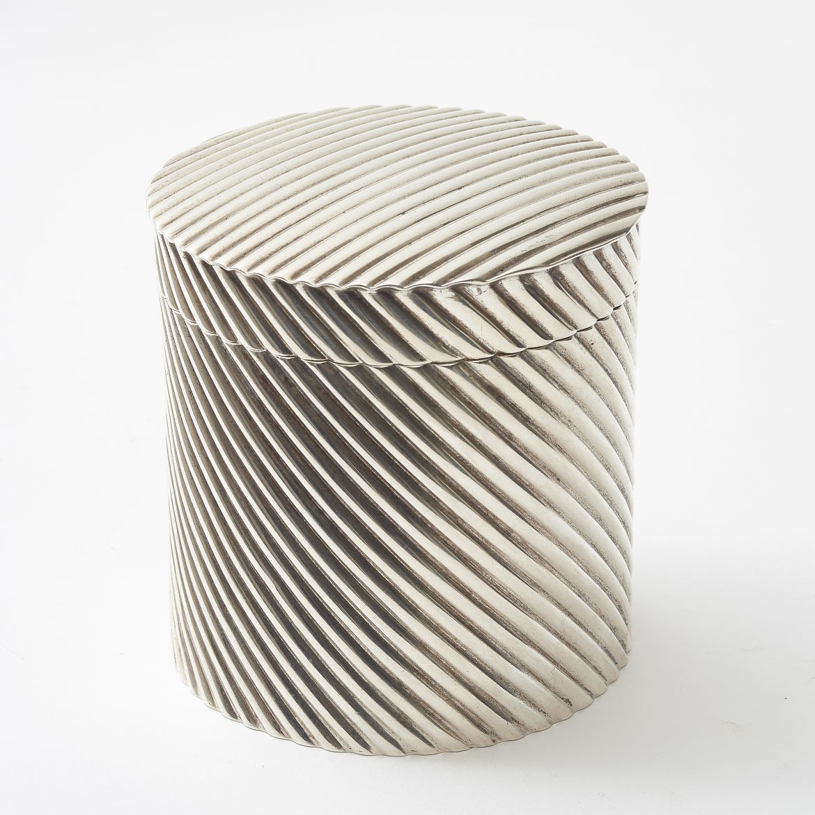 Ribbed Silver Plate Box