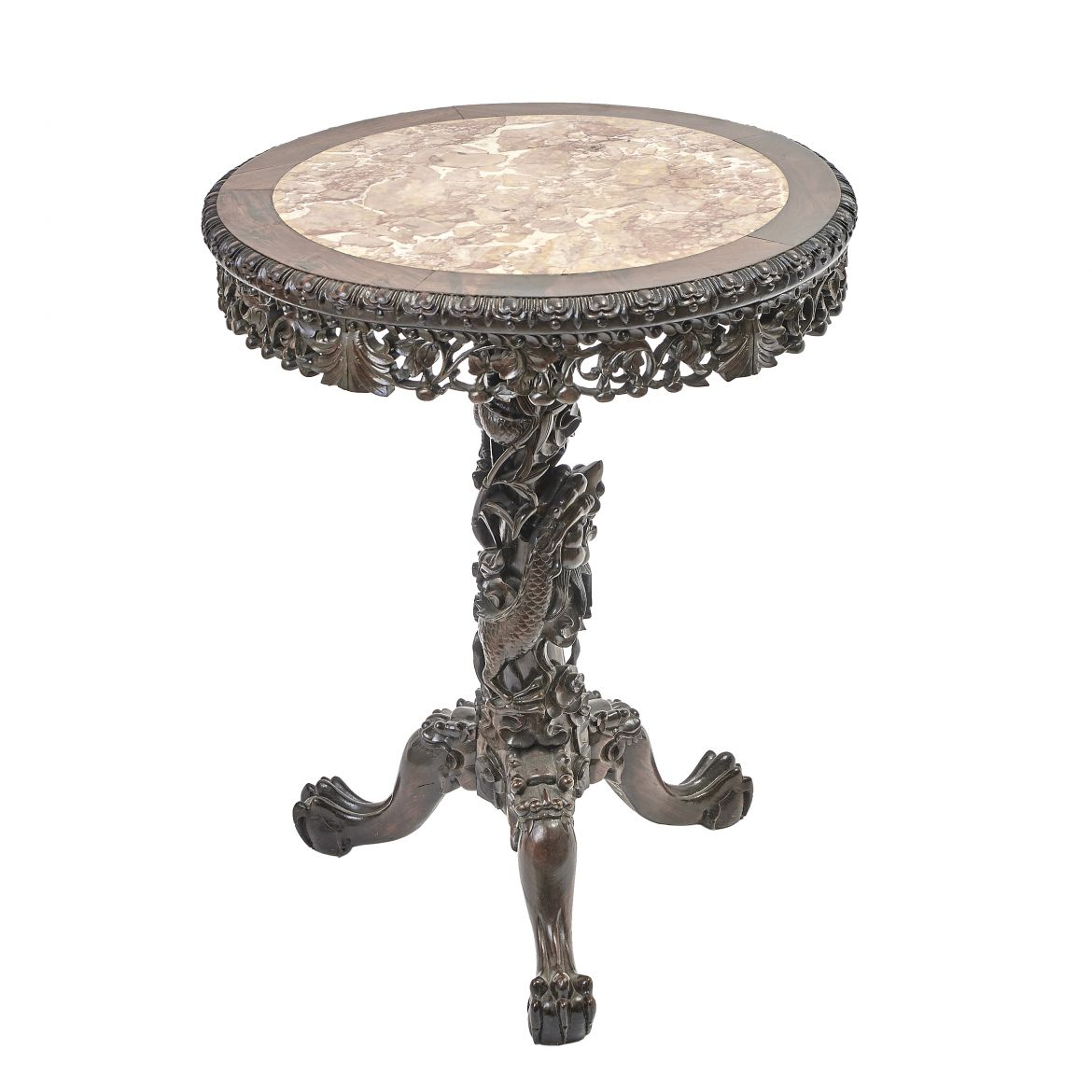 Chinese Carved Occasional Table