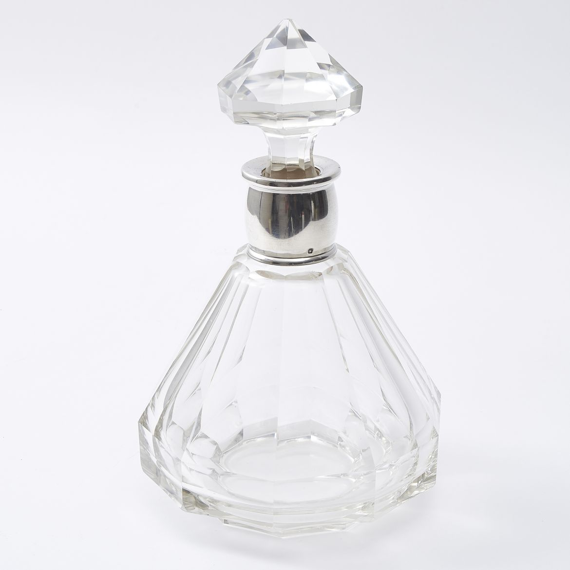 French Silver Mounted Decanter