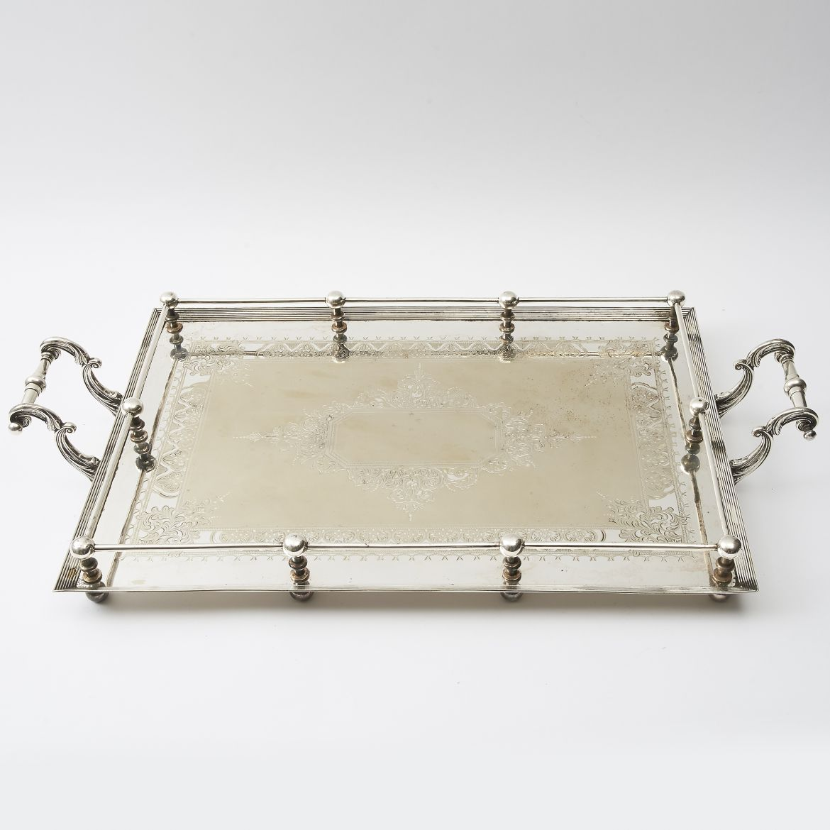 Engraved Silver Tray