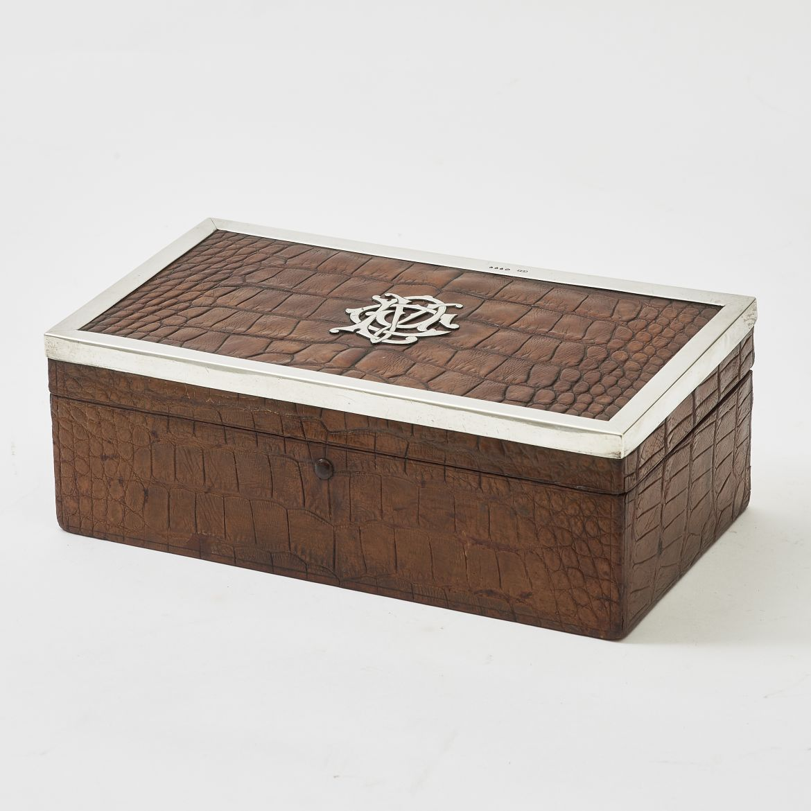 Initialled Crocodile Humidor