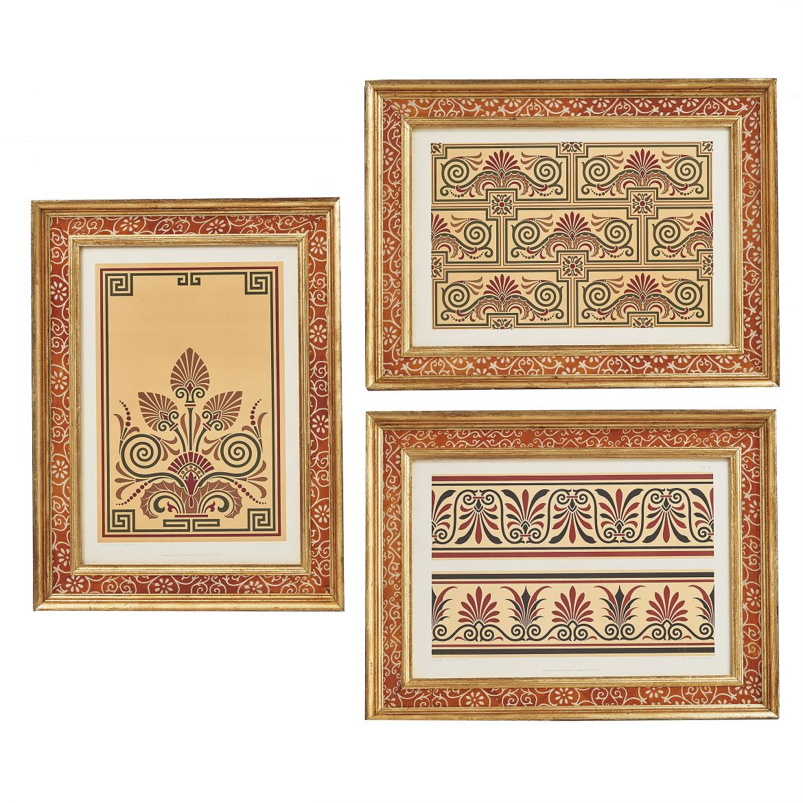 Three Sari-Framed Lithographs