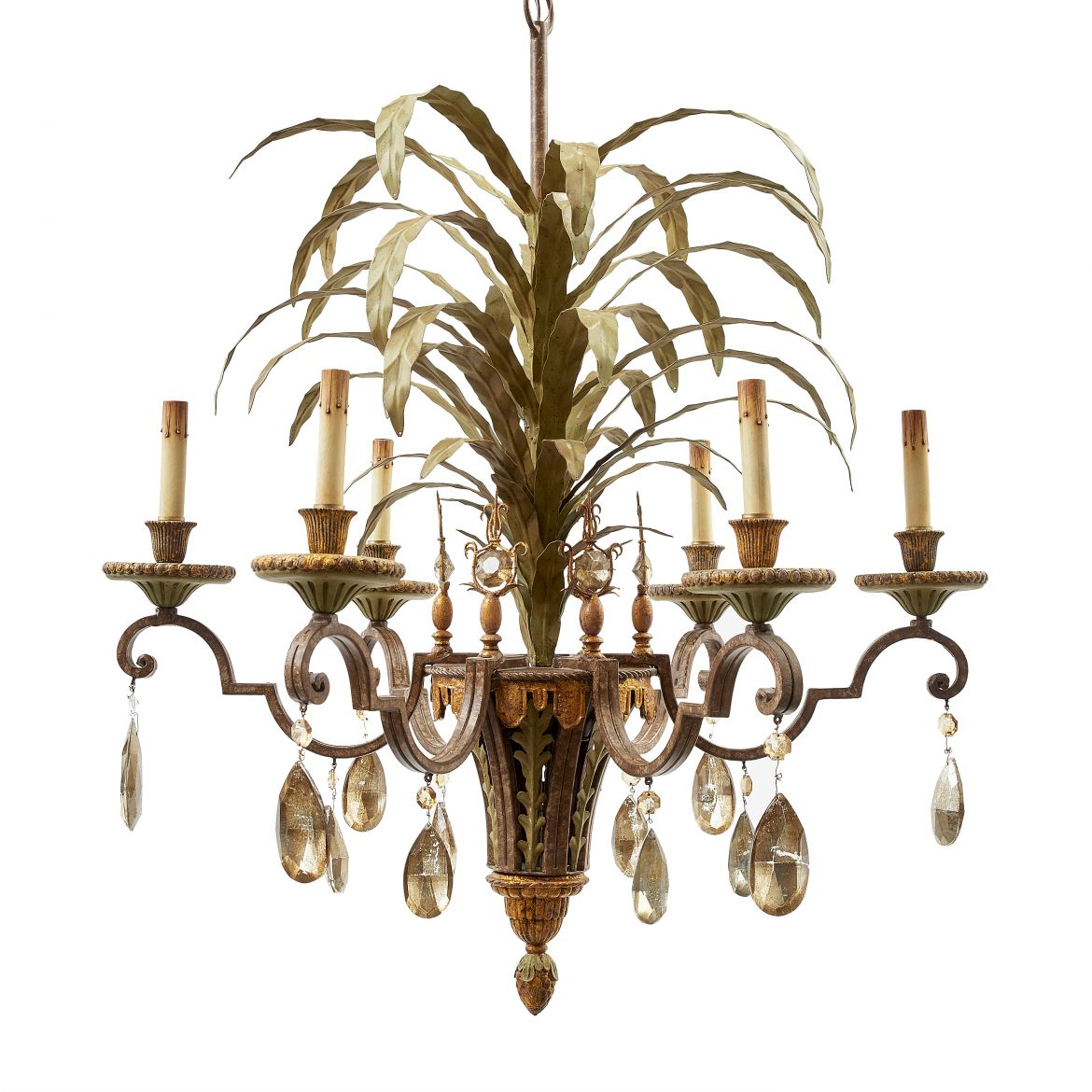 French Leaf Form Chandelier