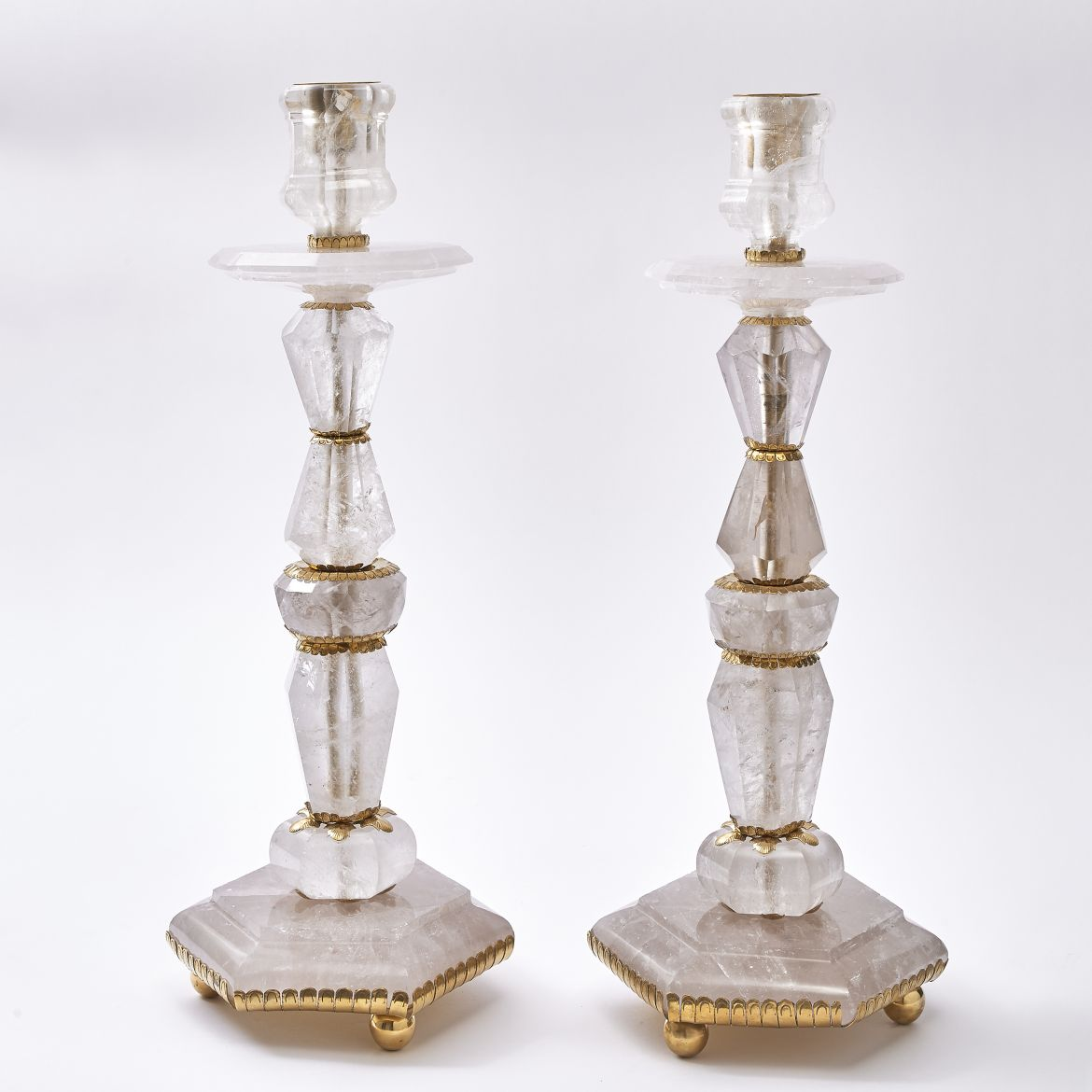 Rock Crystal Candlesticks