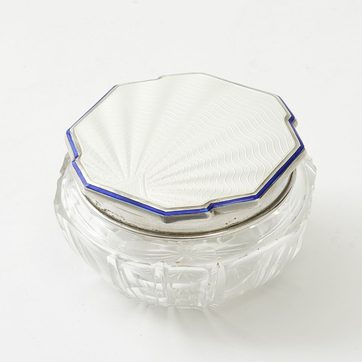 White Enamel Powder Pot