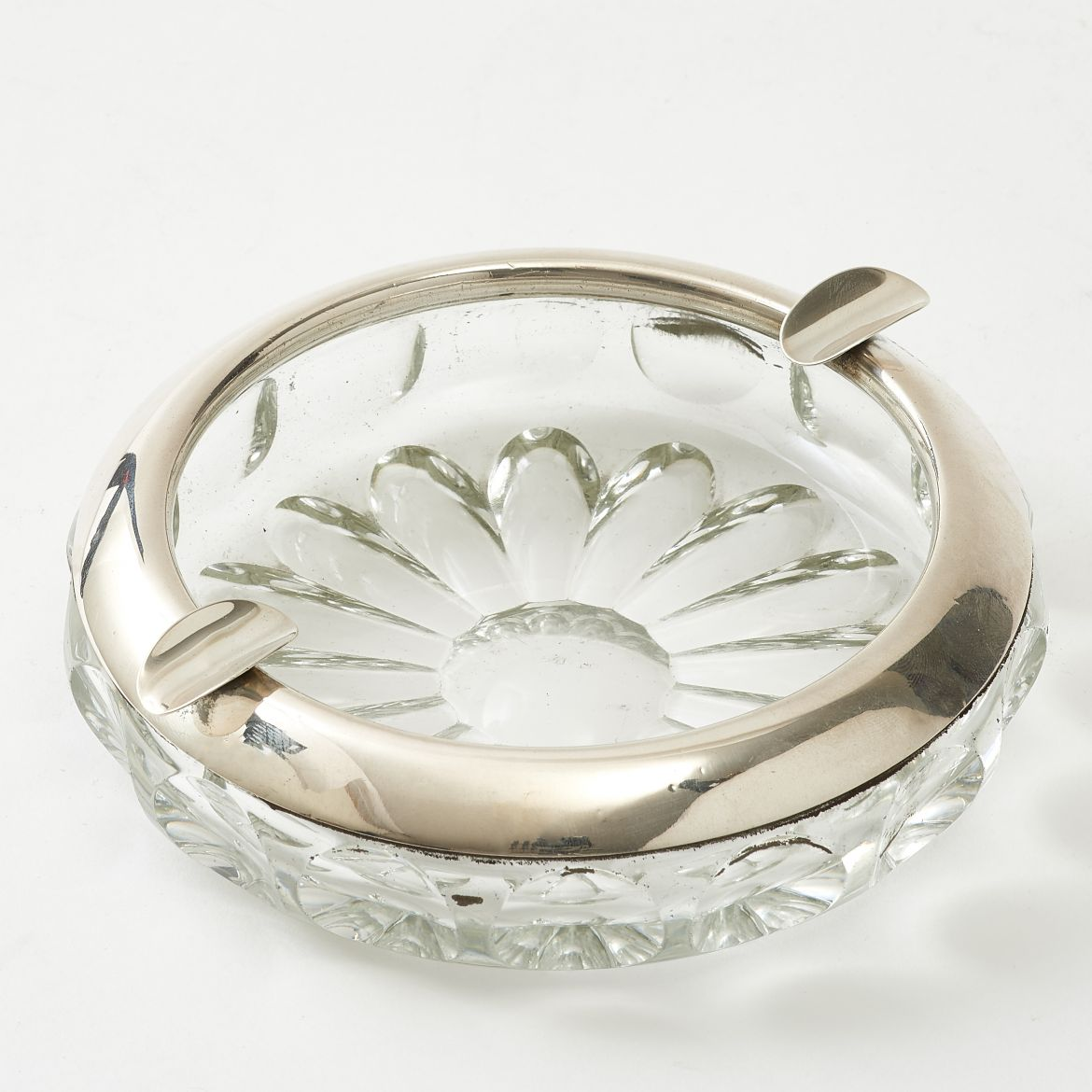 Crystal & Silver Ashtray