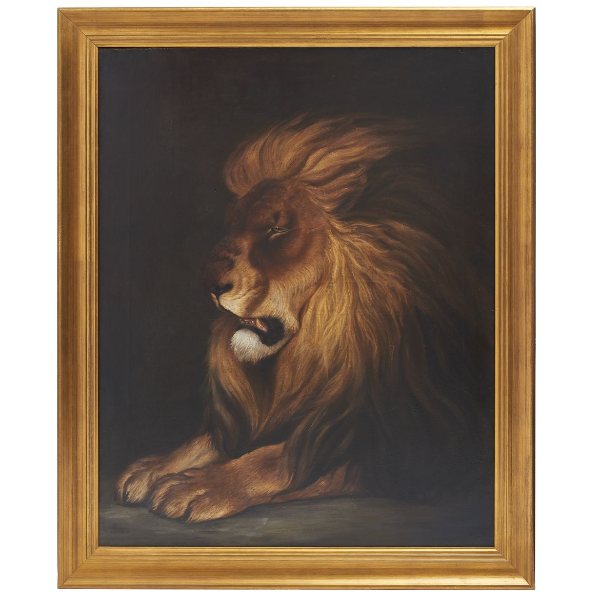 Oil on Canvas of Lion