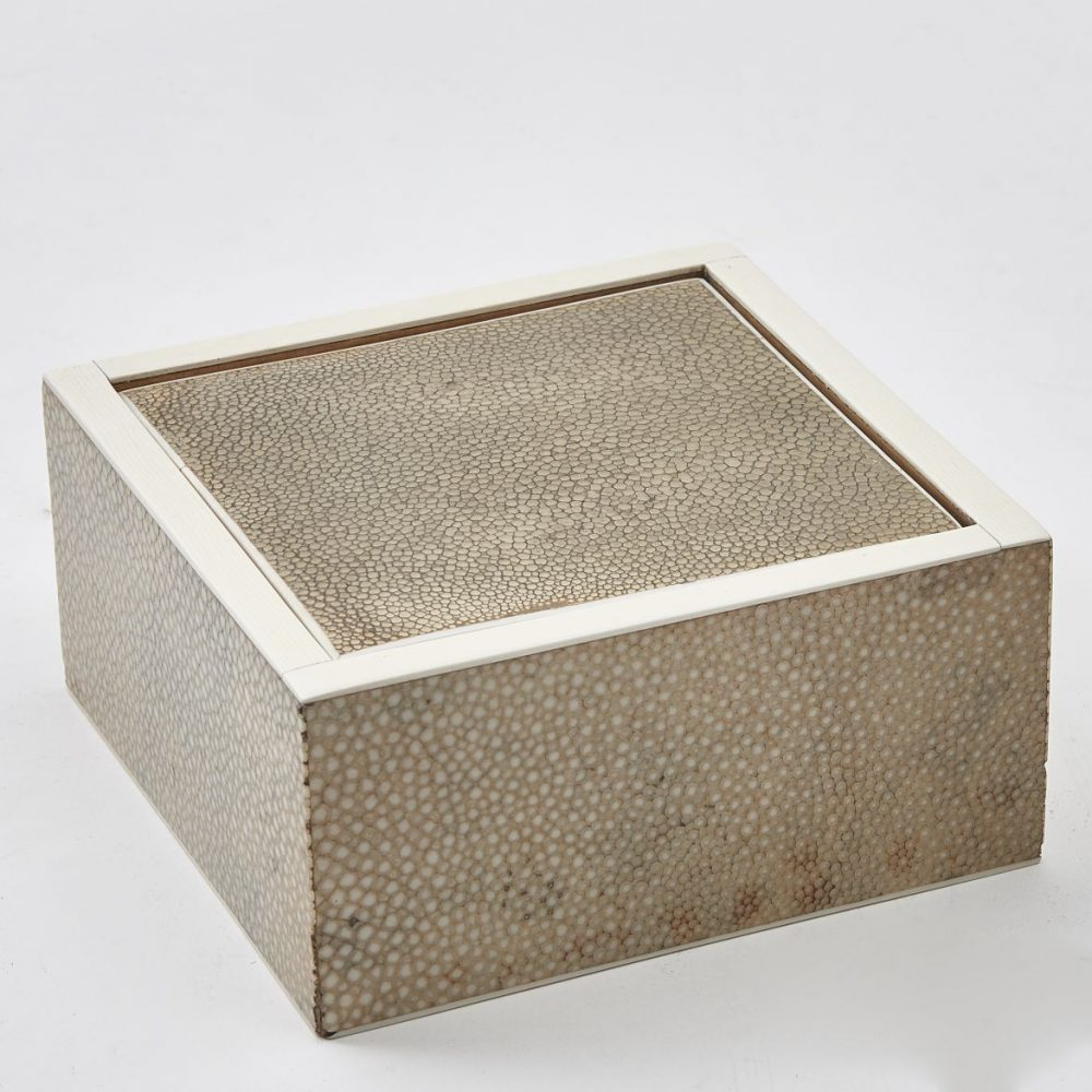 English Square Shagreen Box