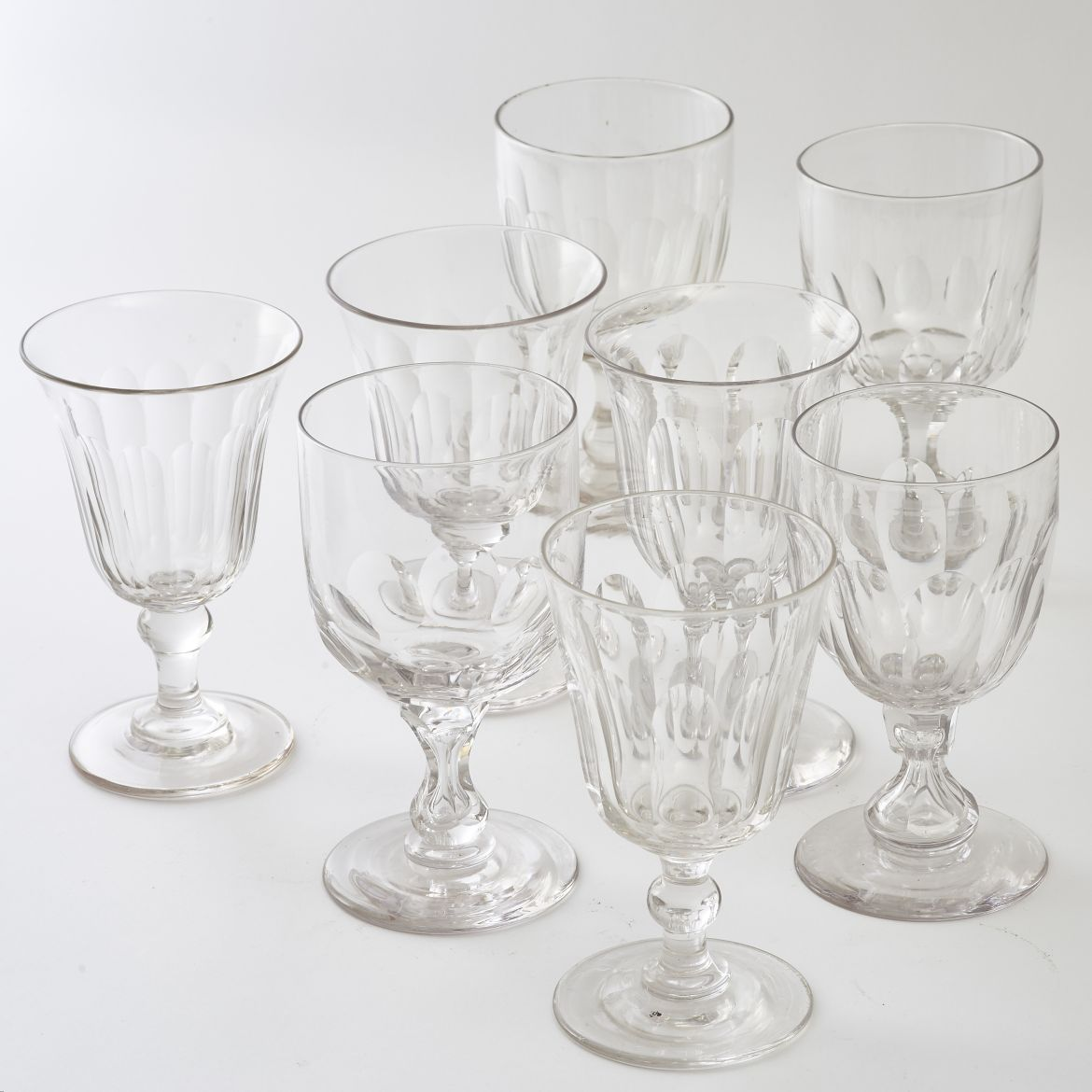 Eight Harlequin Goblets