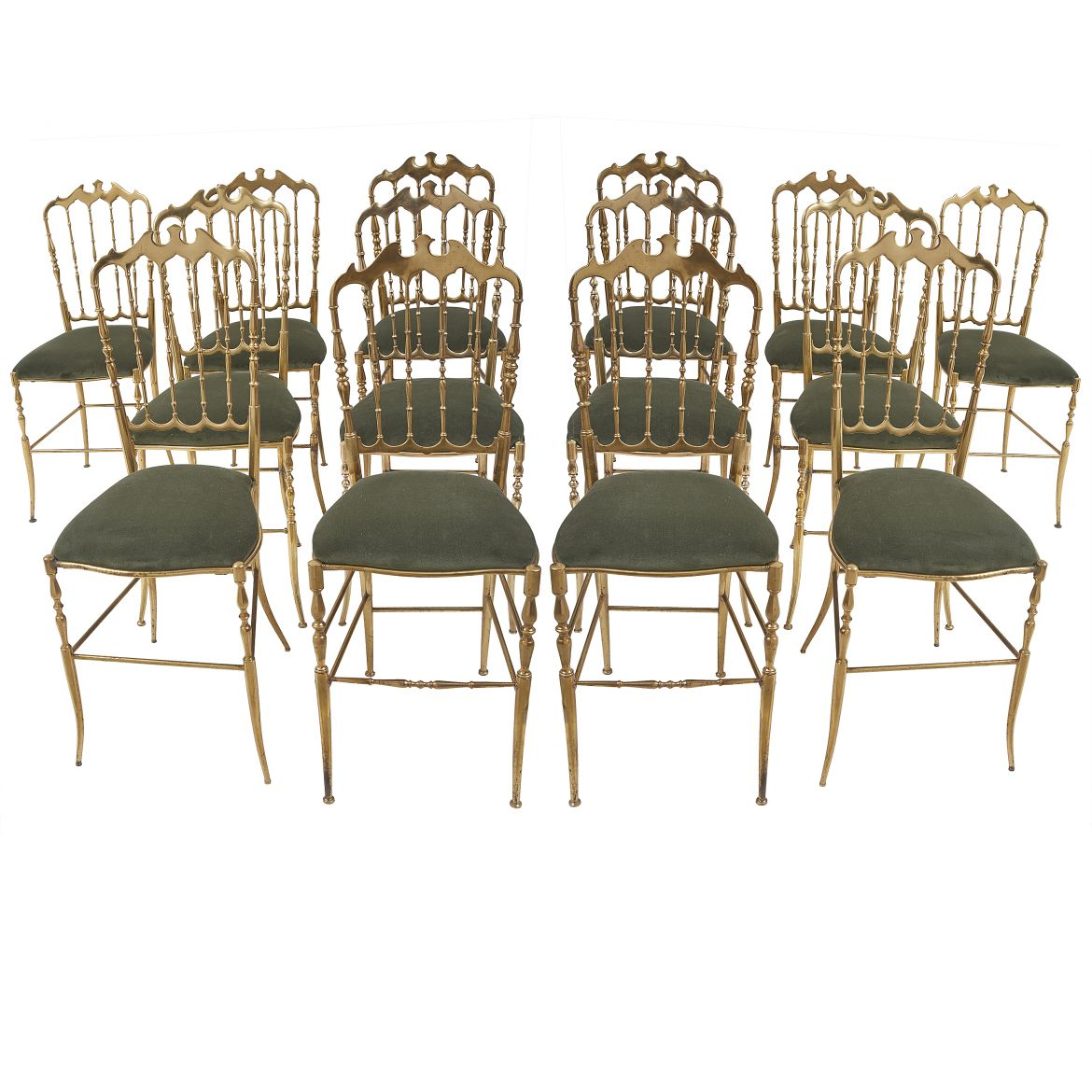 Fourteen Matched Chiavari Dining Chairs