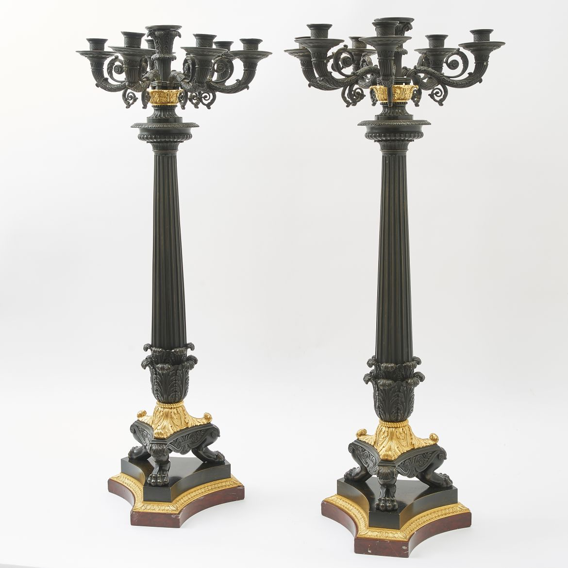 Large Louis Philippe Candelabra