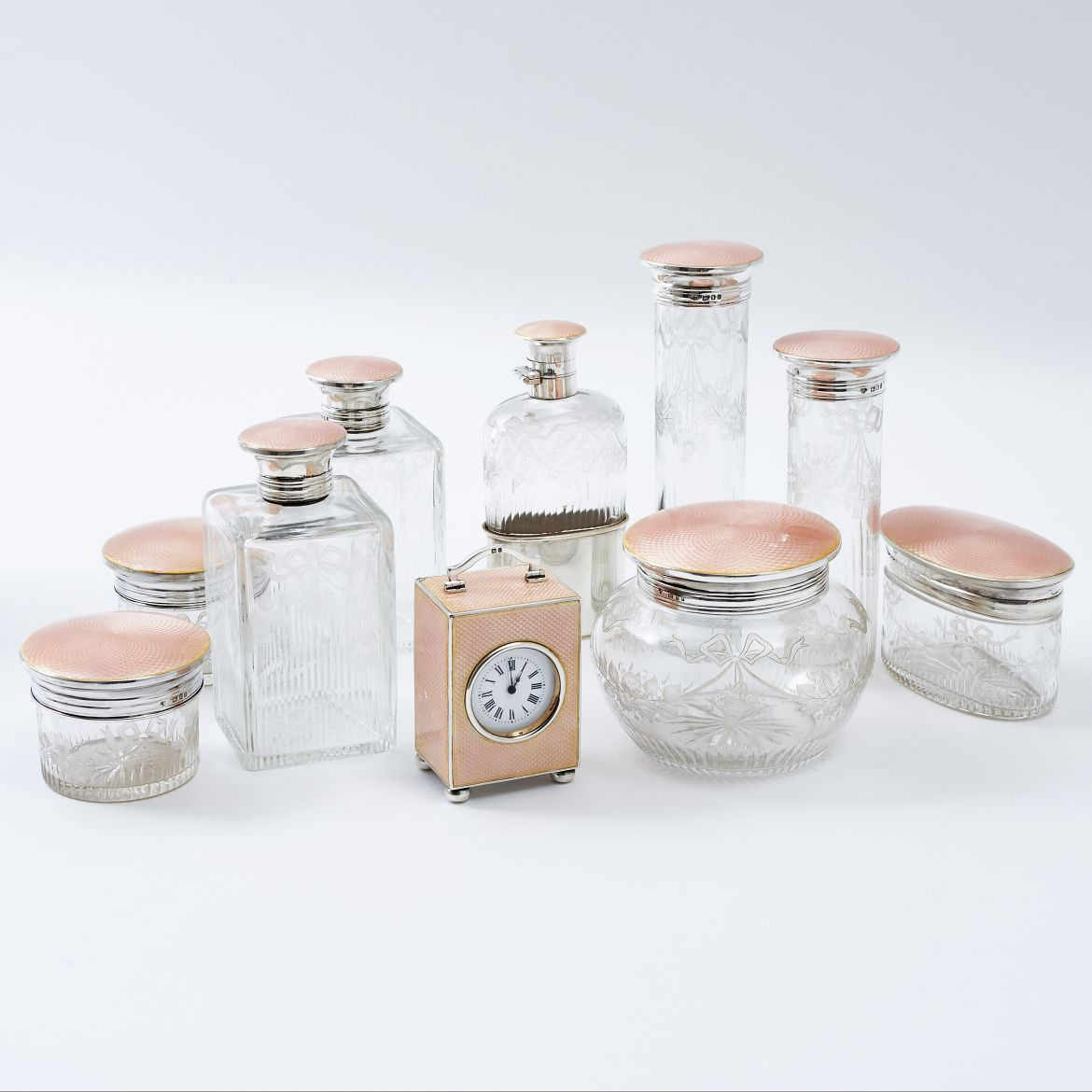Enamel Dressing Table Set
