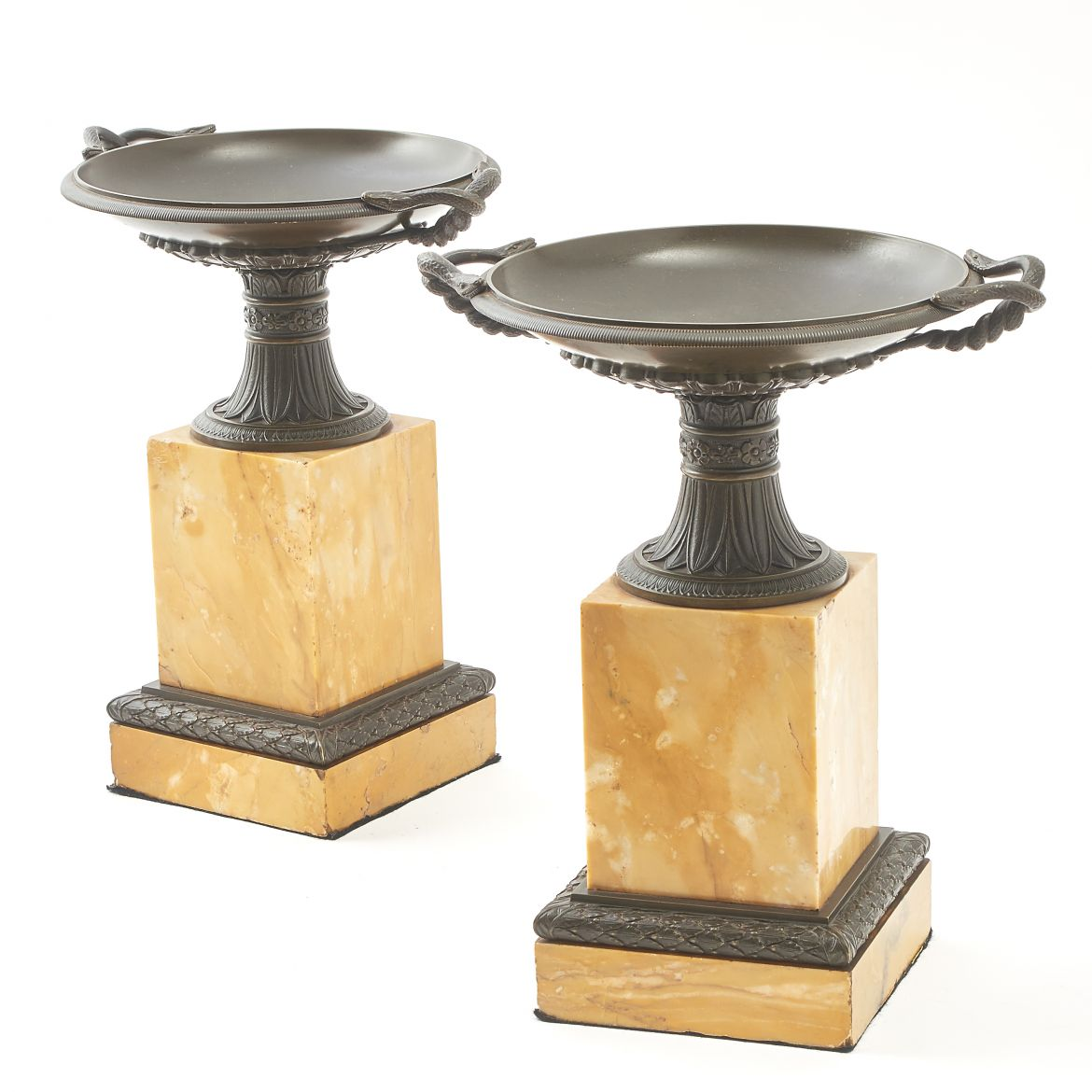 Pair Italian Grand Tour Tazza
