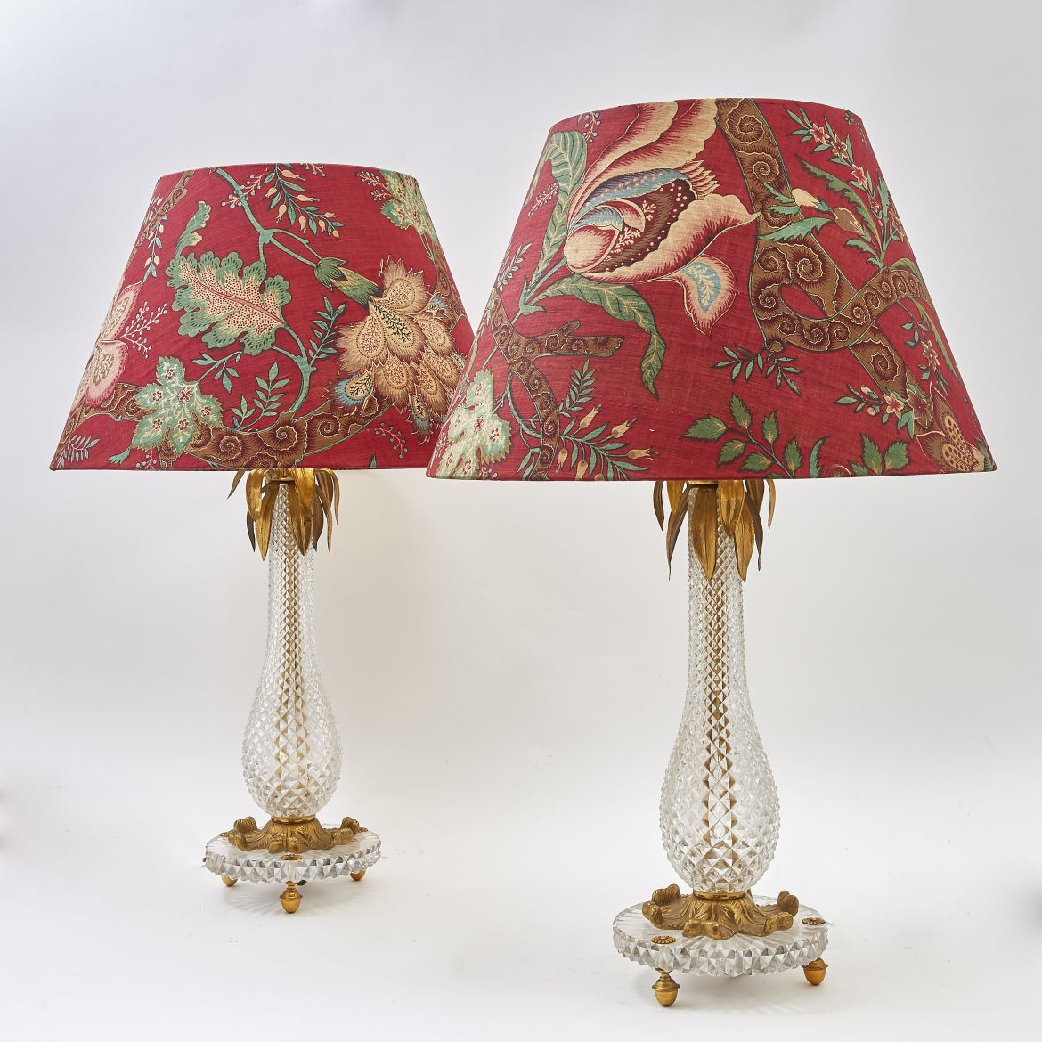Crystal Palm Lamps