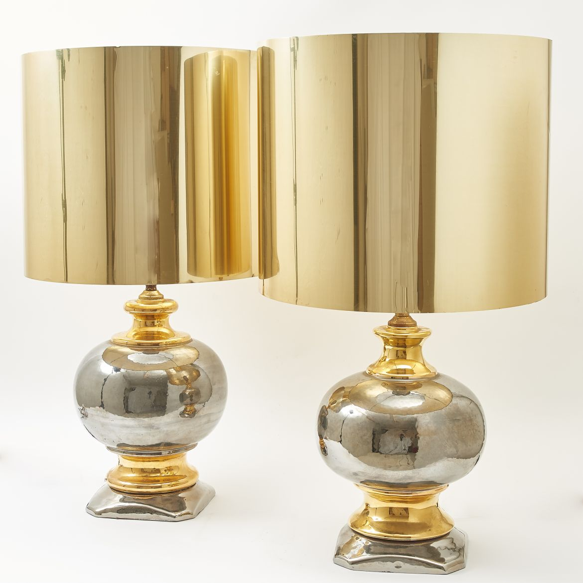 Silver & Gold Glaze Lamps