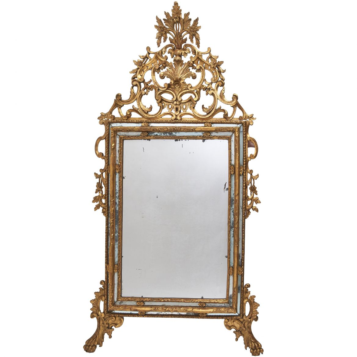 Italian Piedmontese Carved Mirror
