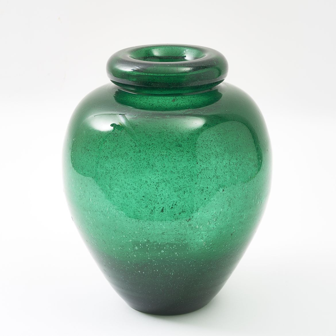 Murano Green Glass Vase