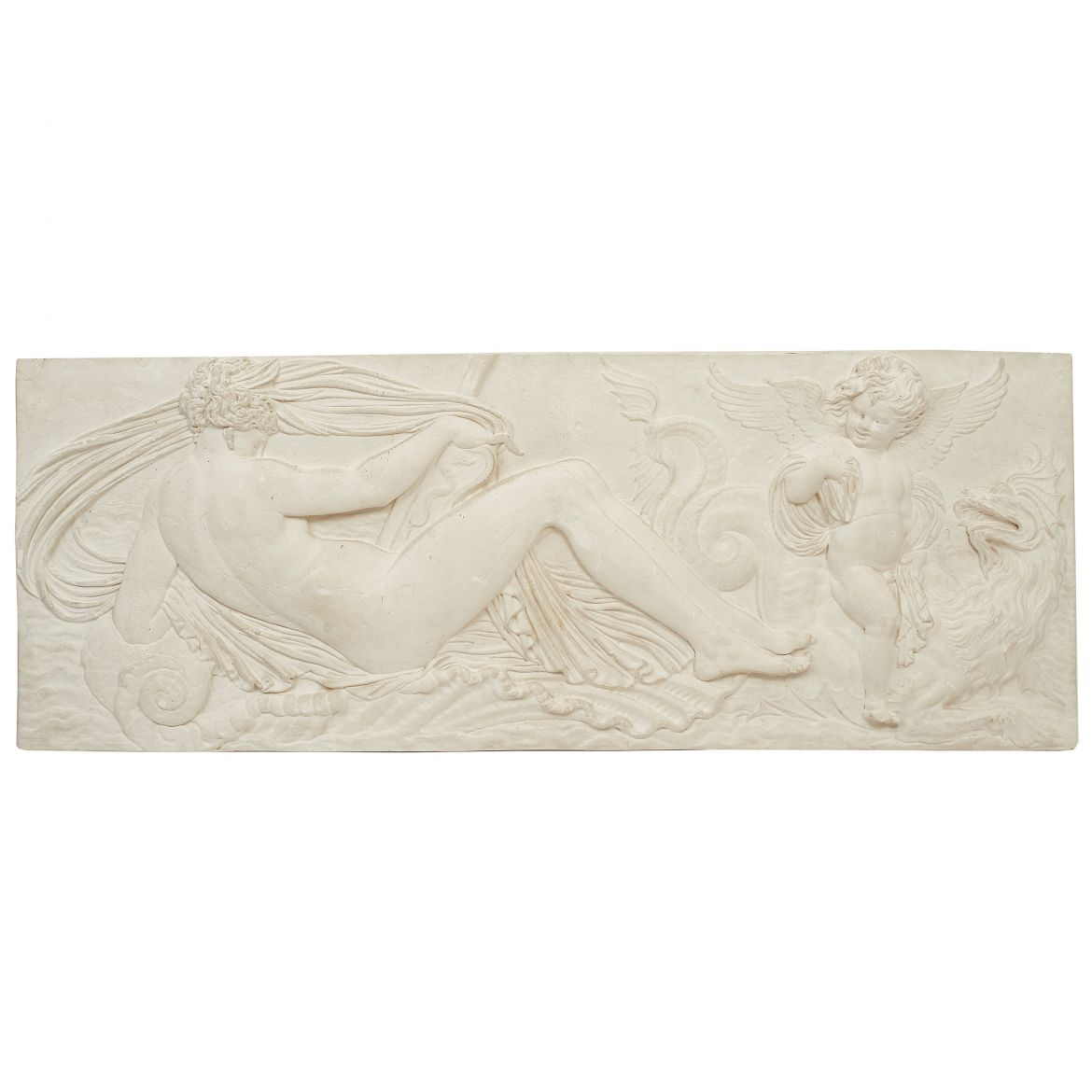 Plaster Bas Relief Plaque