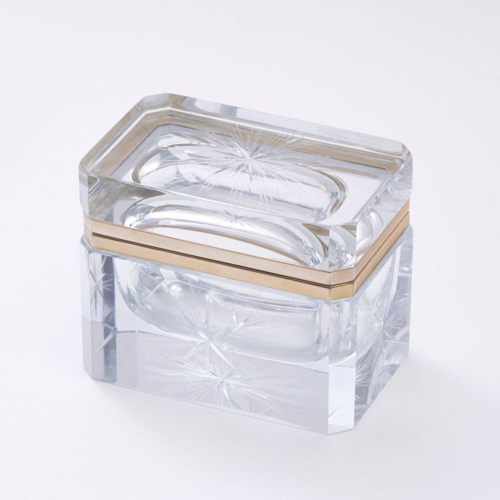 Italian Sommerso Clear glass box