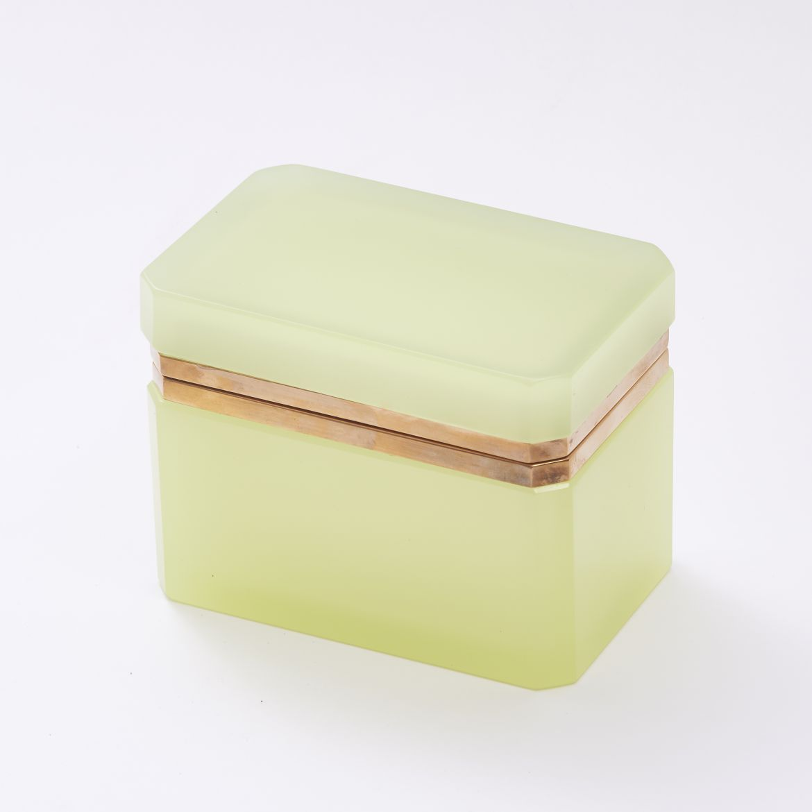 Lemon Yellow Murano Glass Box