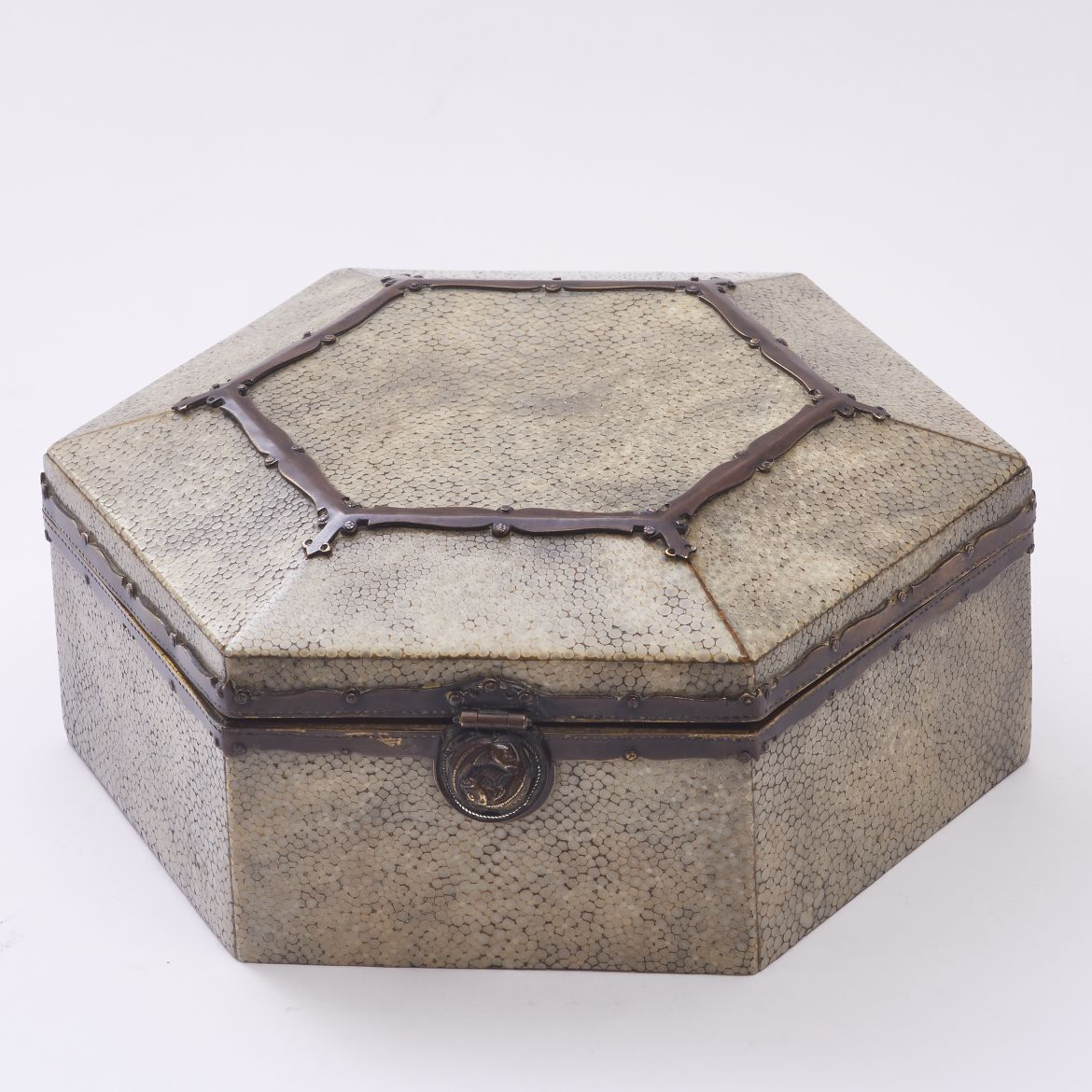 English Arts and Crafts Shagreen Box