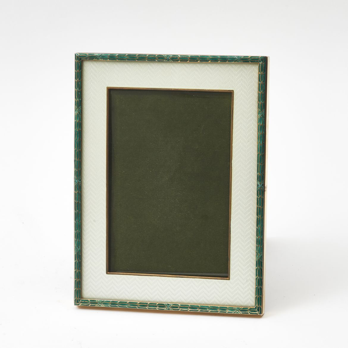 White & Green Enamel Frame