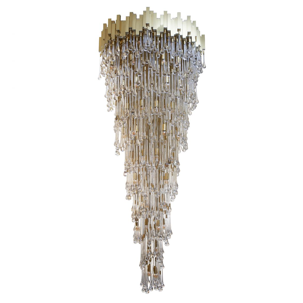 Italian Glass Cascading Chandelier