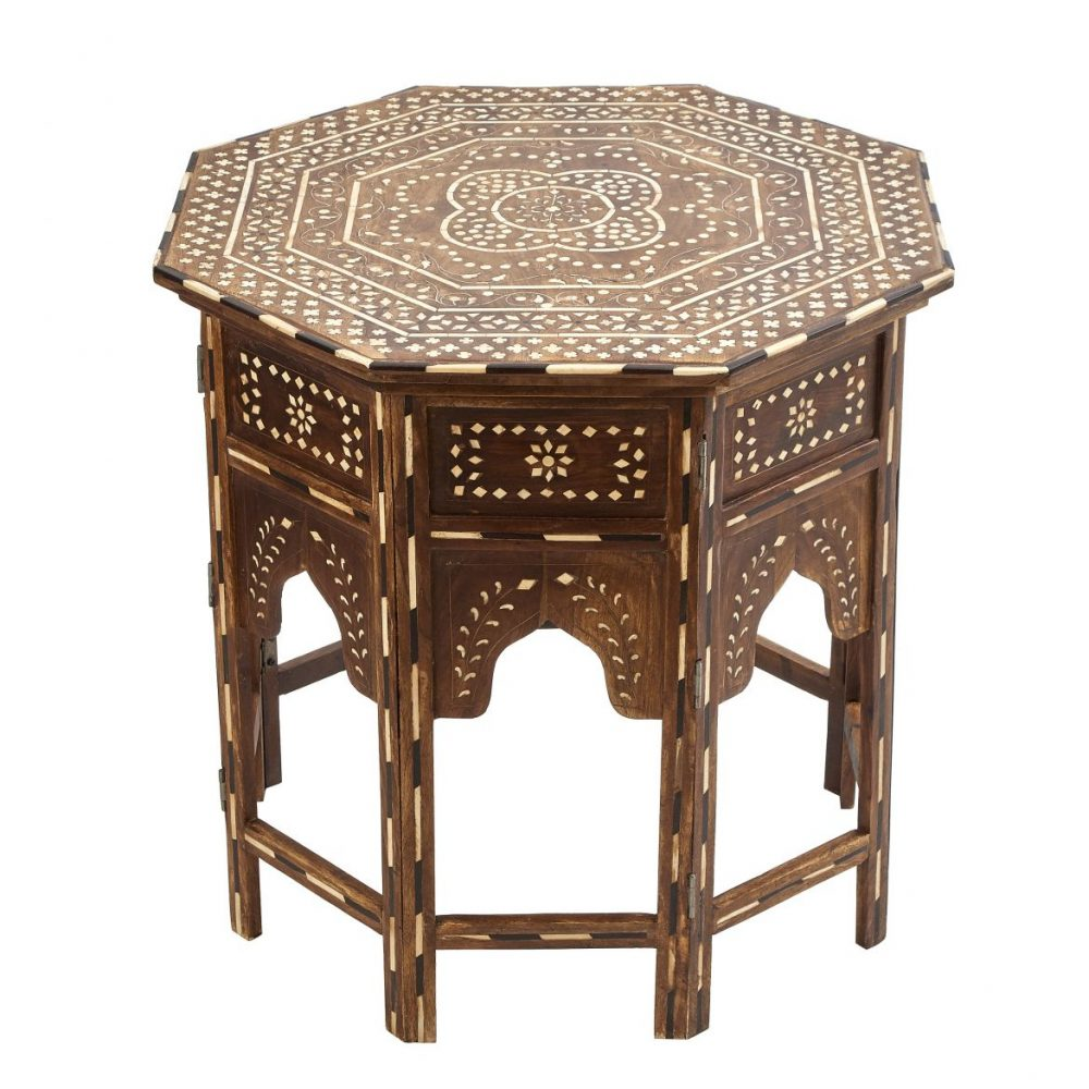 Contemporary Octagonal Inlaid Table