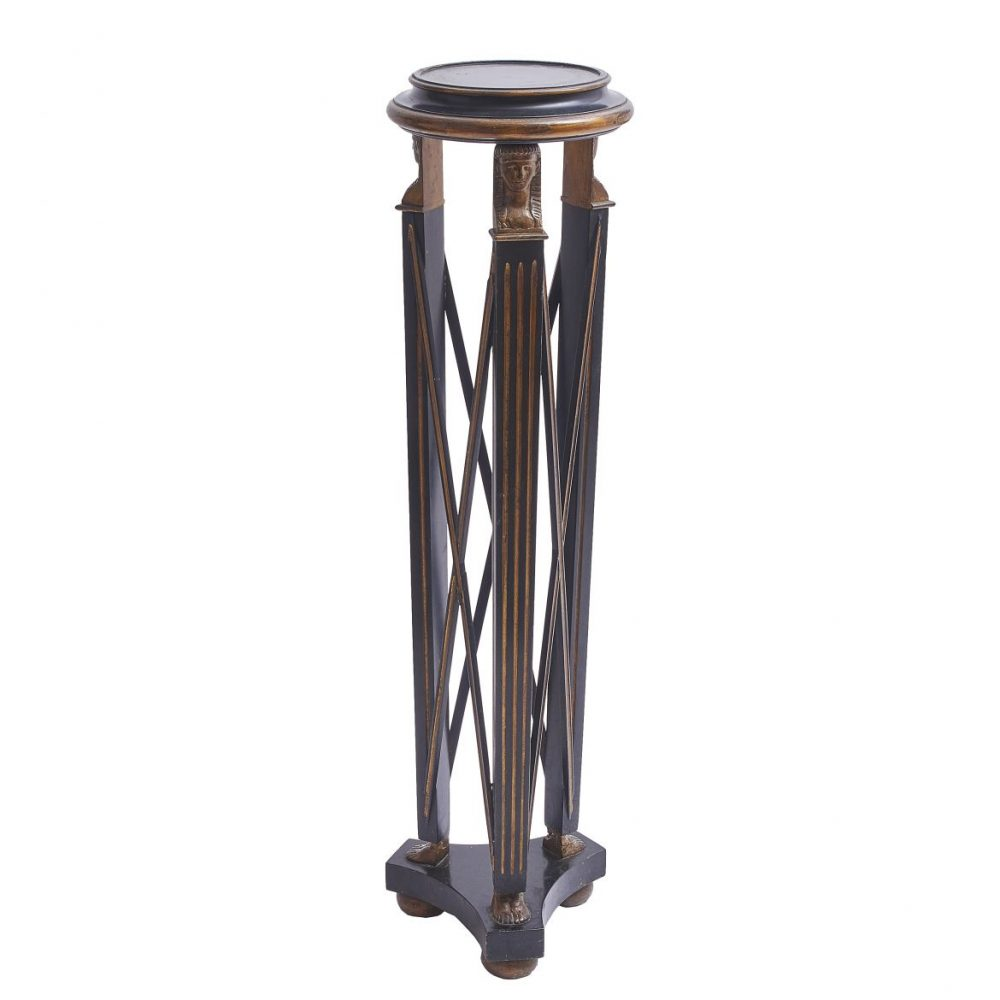 Regency Lacquered Egyptianesque Torchere