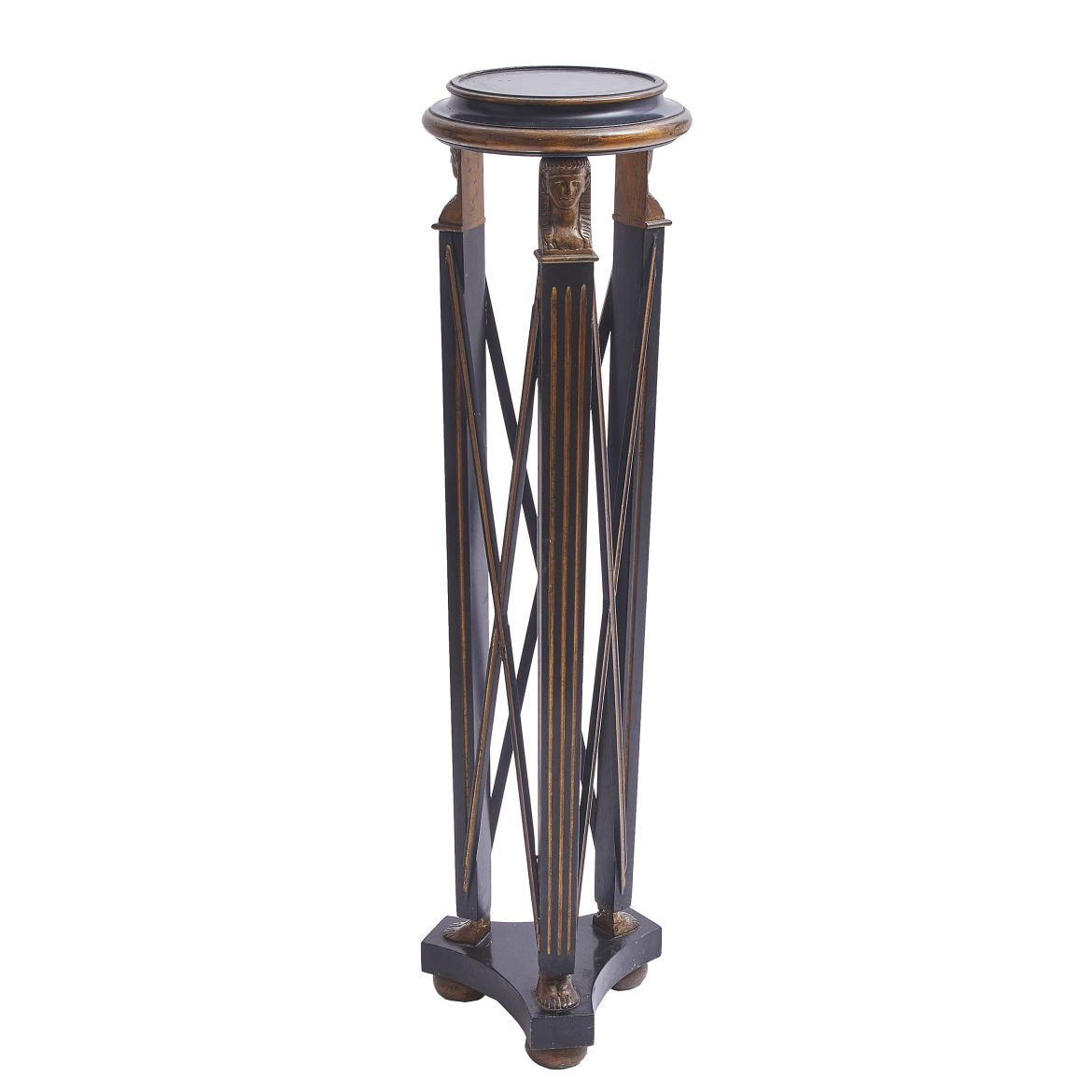 Lacquered Egyptianesque Torchere