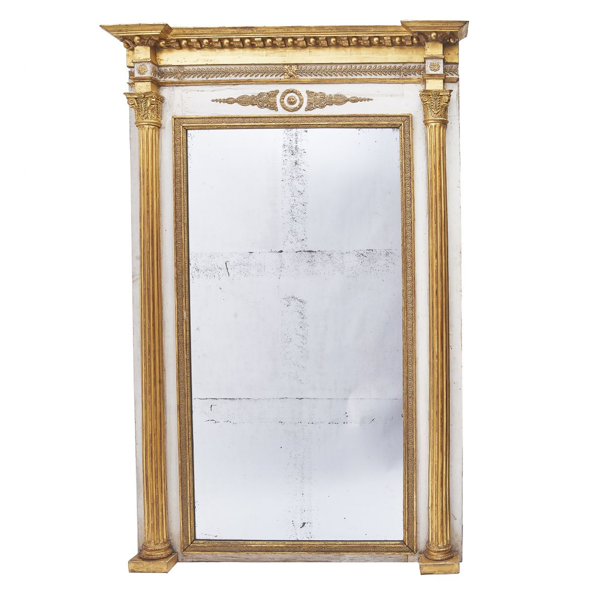 Parcel Gilt Overmantle Mirror