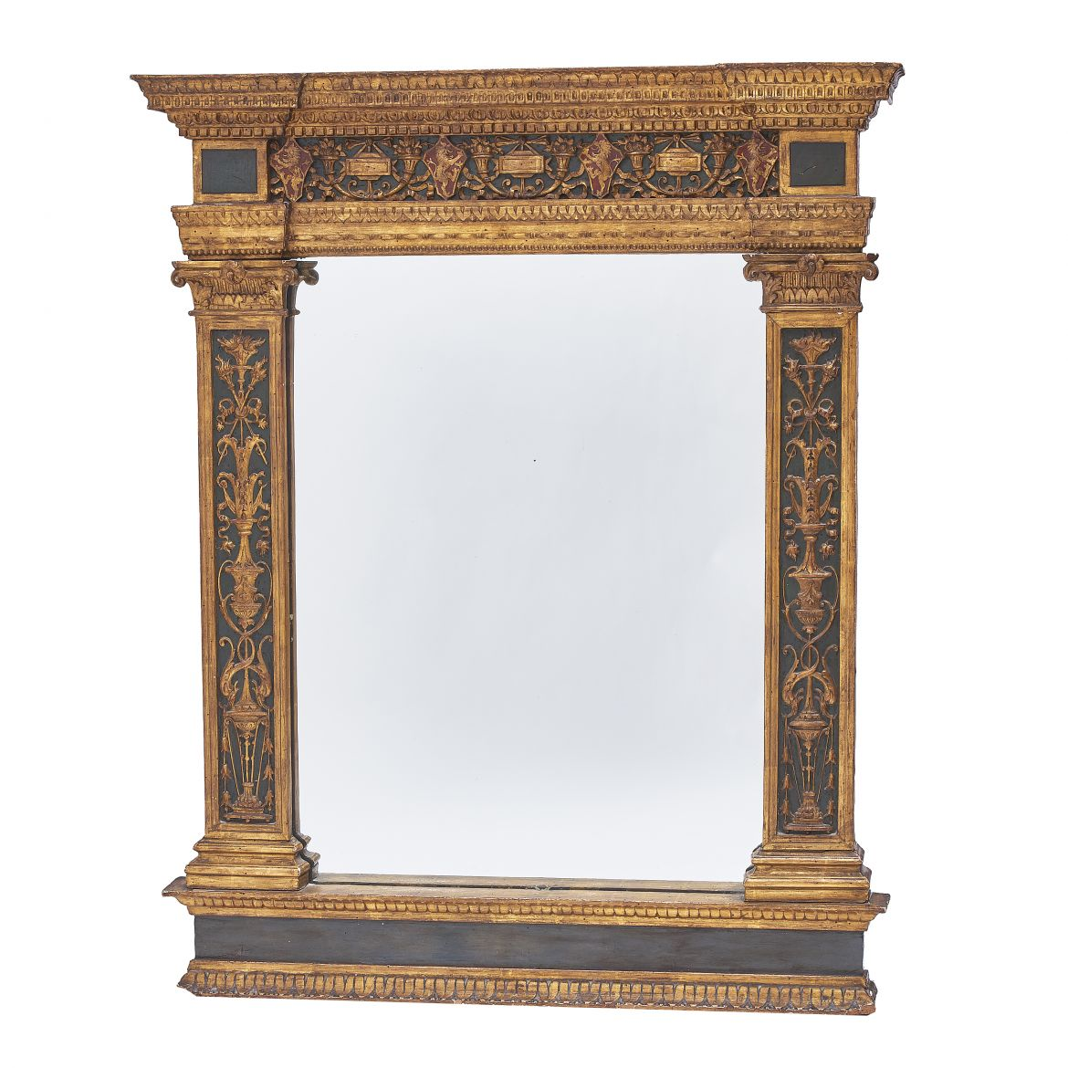 Mirror with Lion Crests