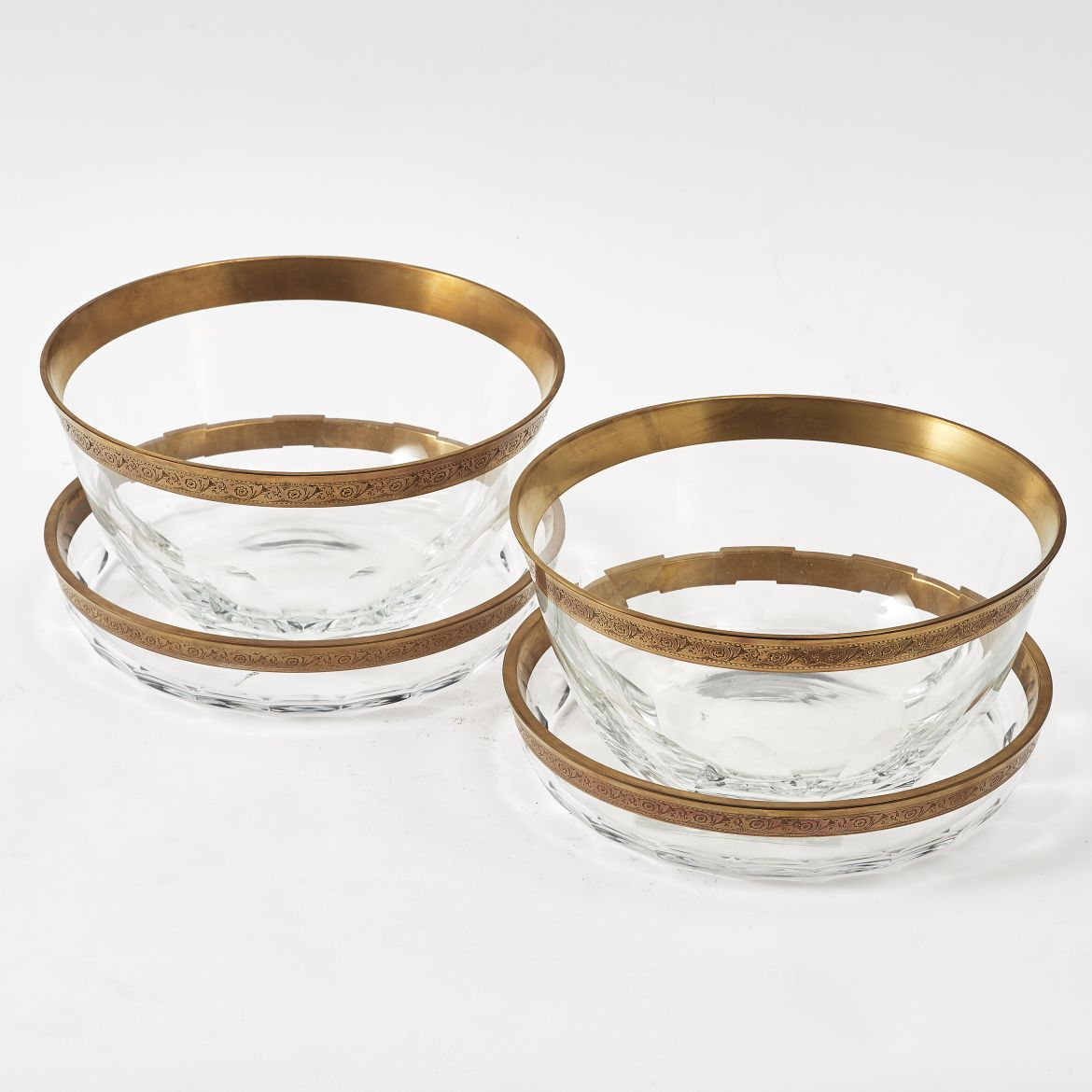 Gilded Crystal Dishes & Bowls