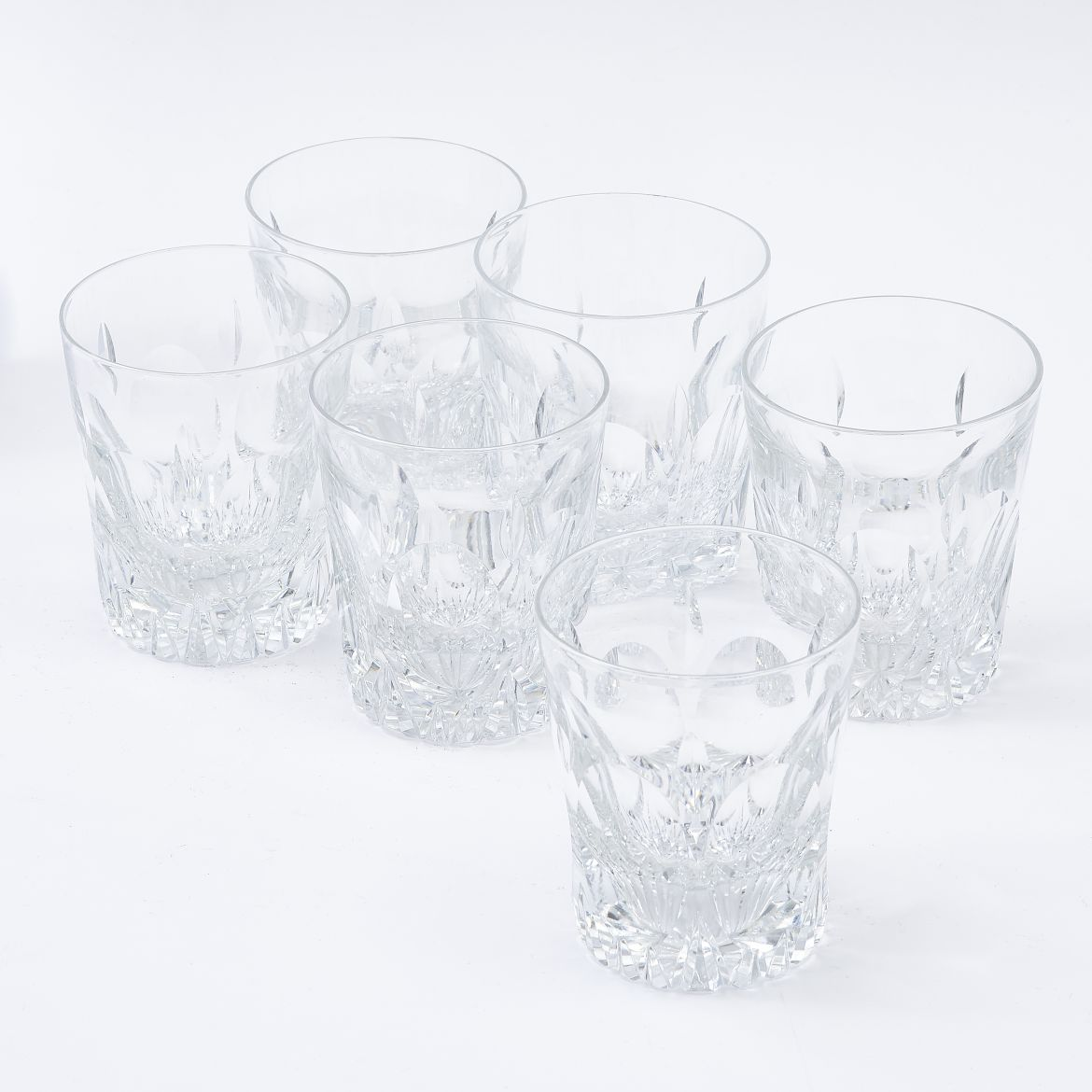 Six Large Whisky Tumblers