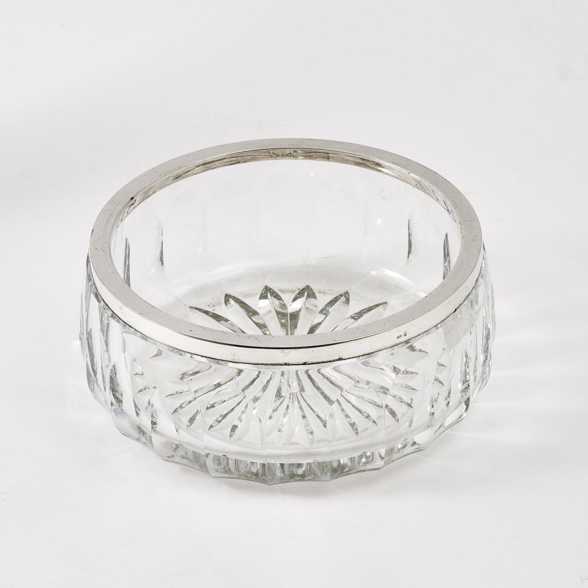 Facet Cut Crystal Bowl