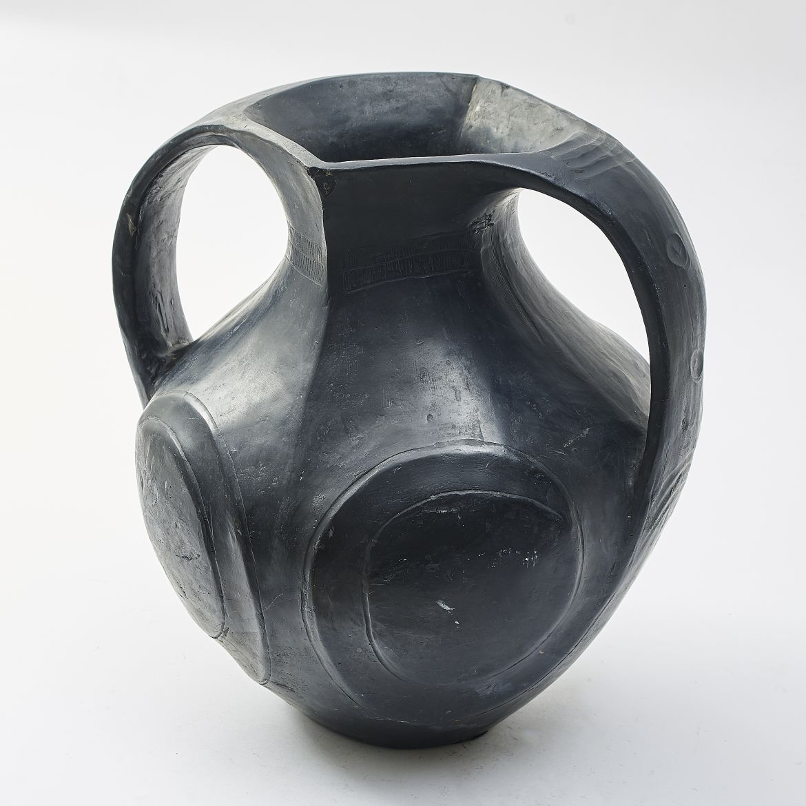 Chinese Black Pottery Amphora