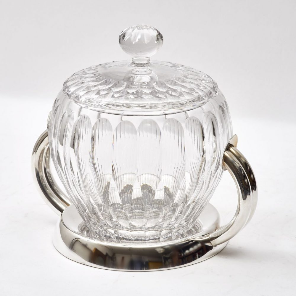 Italian Crystal and Silver Plate Bowl
